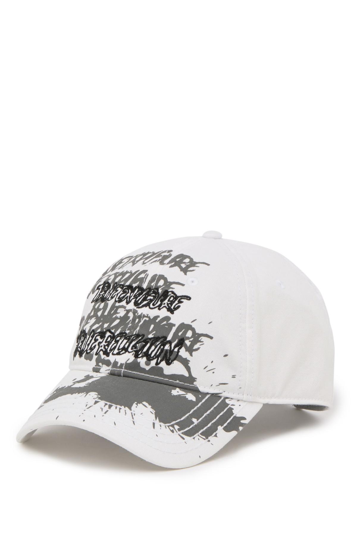 f8b8a30f True Religion Doodle Print Baseball Cap in White for Men - Lyst