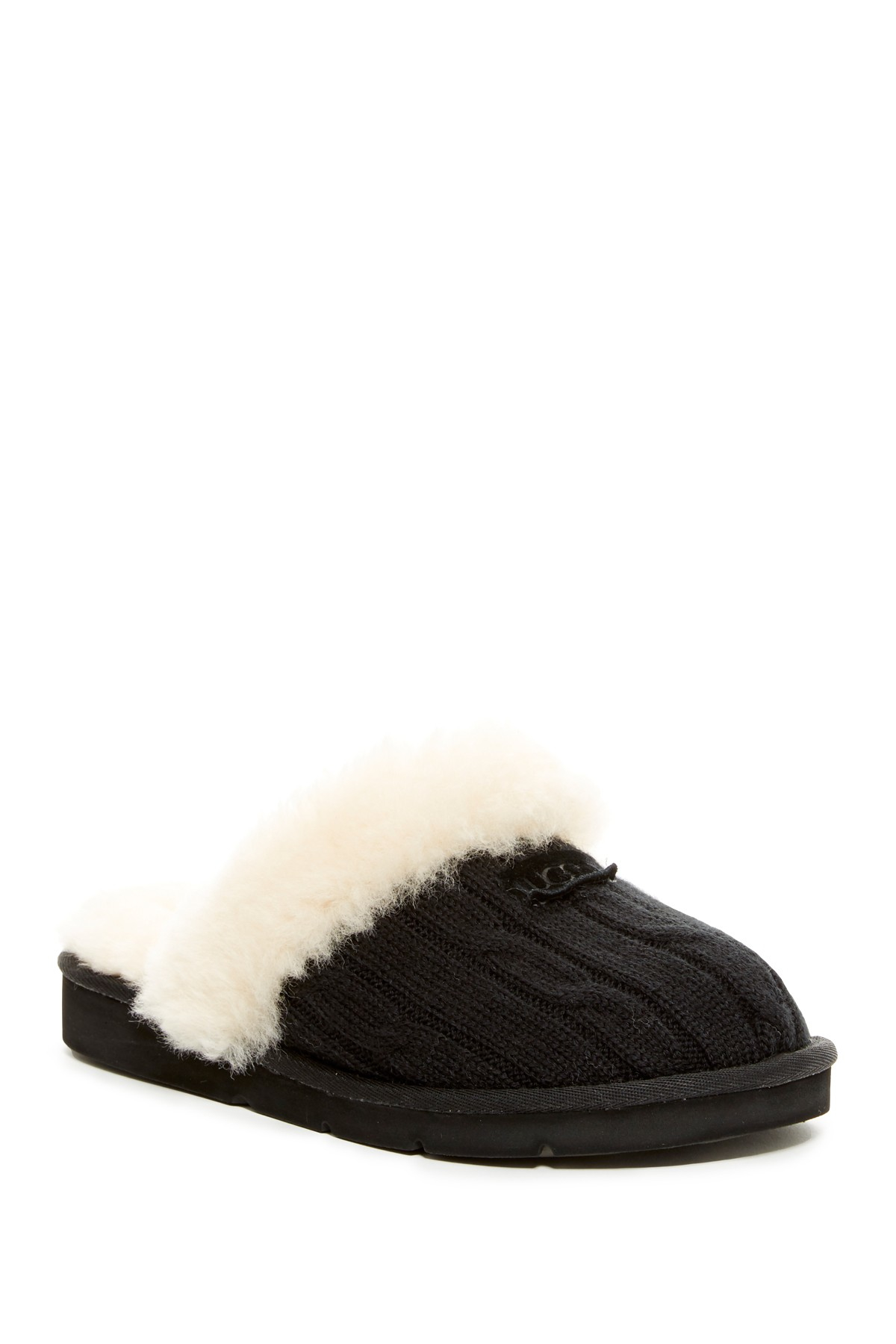 Ugg Cozy Genuine Shearling Lined Knit Slipper Lyst