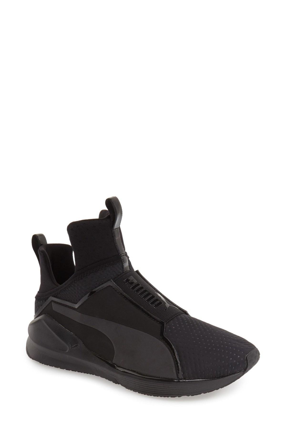 puma fierce high top sneaker in black for men lyst