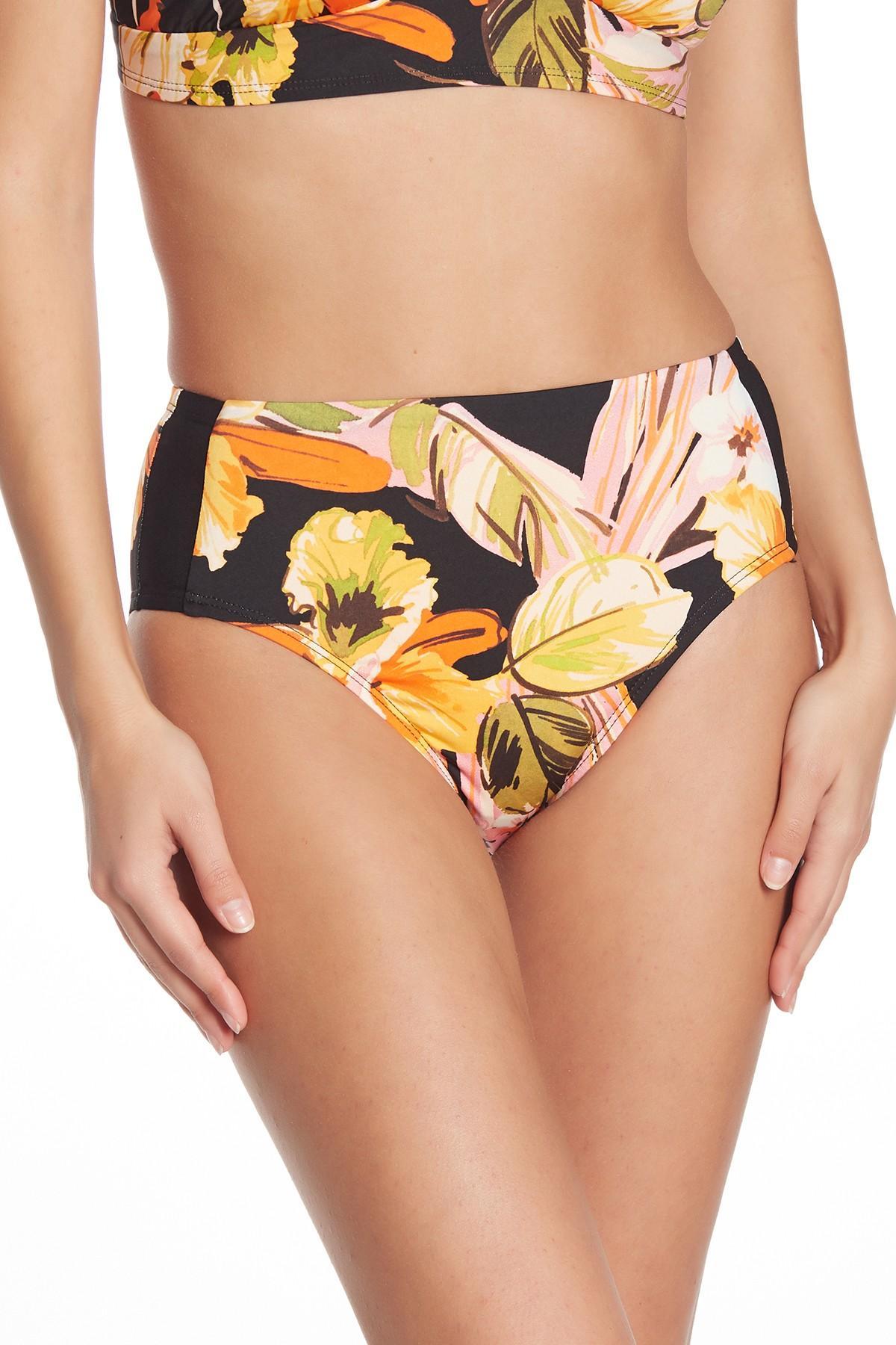 dde5d582c5d49 Lyst - Robin Piccone Mila High Waist Bikini Bottoms in Orange - Save 4%