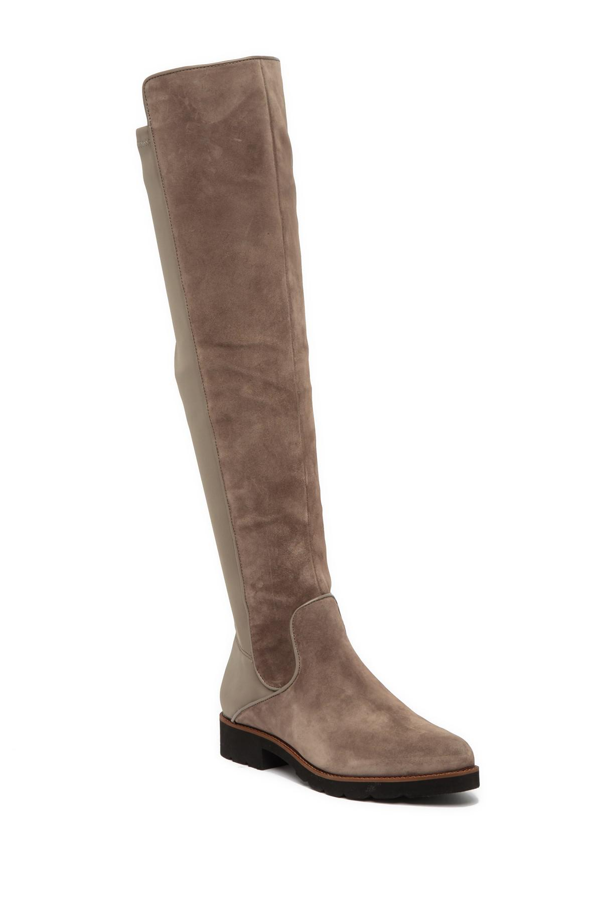32b8bab9349 Lyst - Franco Sarto Benner Leather Over-the-knee Boot in Brown