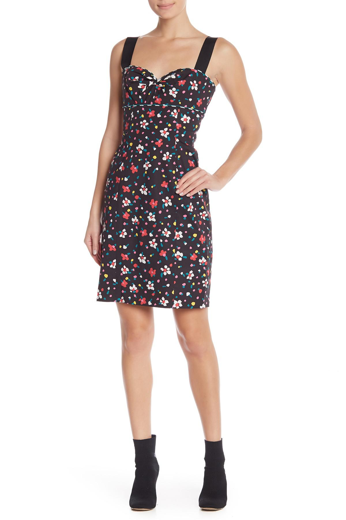 f62da18b Lyst - Marc Jacobs Floral Sweetheart Sheath Dress in Black