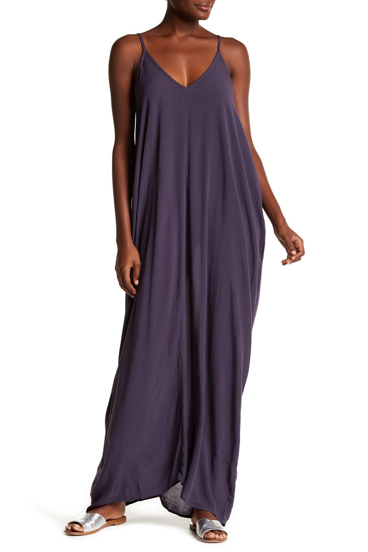 ed3af7c26da Love Stitch V-neck Gauze Maxi Dress in Purple - Lyst