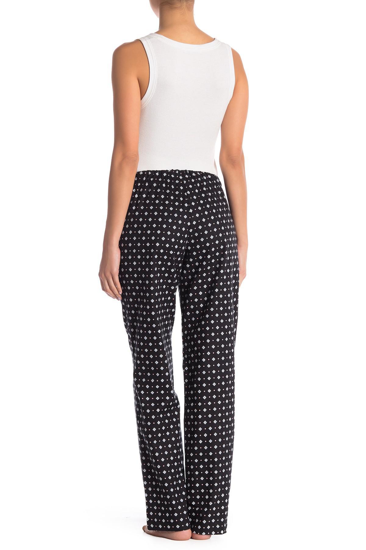 49e75f9c4d5f Maidenform - Black Flannel Pajama Pants - Lyst. View fullscreen
