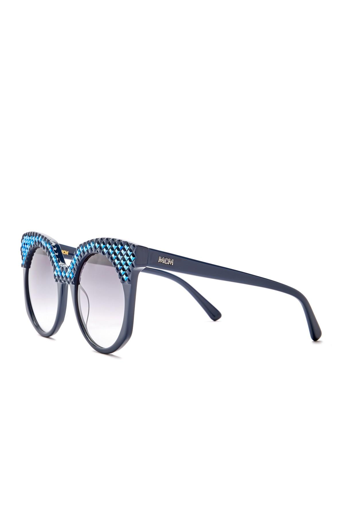 a4db459f1c4f1 MCM - Blue Women s Cat Eye 52mm Acetate Frame Sunglasses - Lyst. View  fullscreen