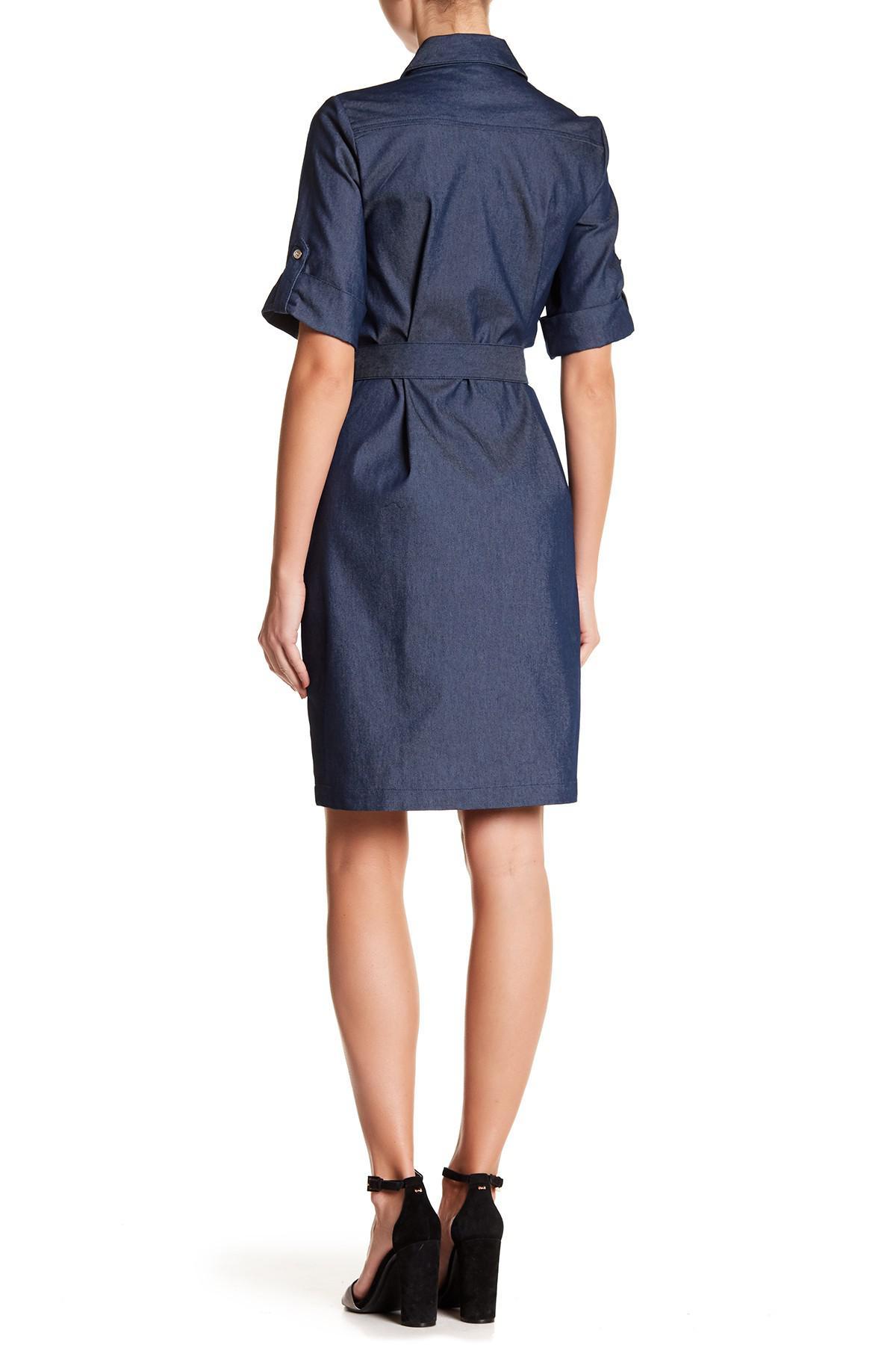 Lyst Sharagano Denim Shirt Dress In Blue