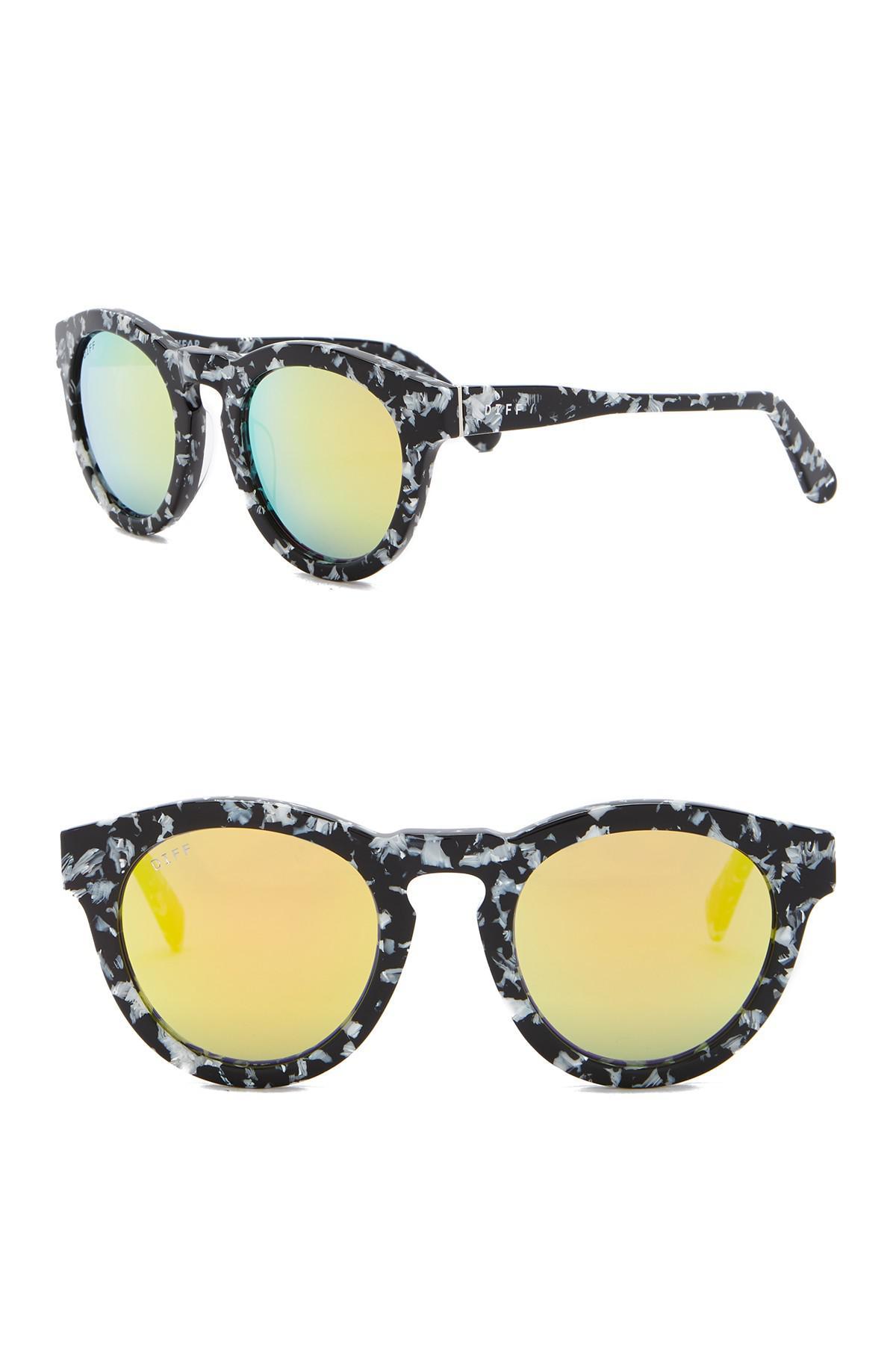 41f25eccb1 DIFF. Women s Dime Round Keyhole Bride 46mm Acetate Sunglasses