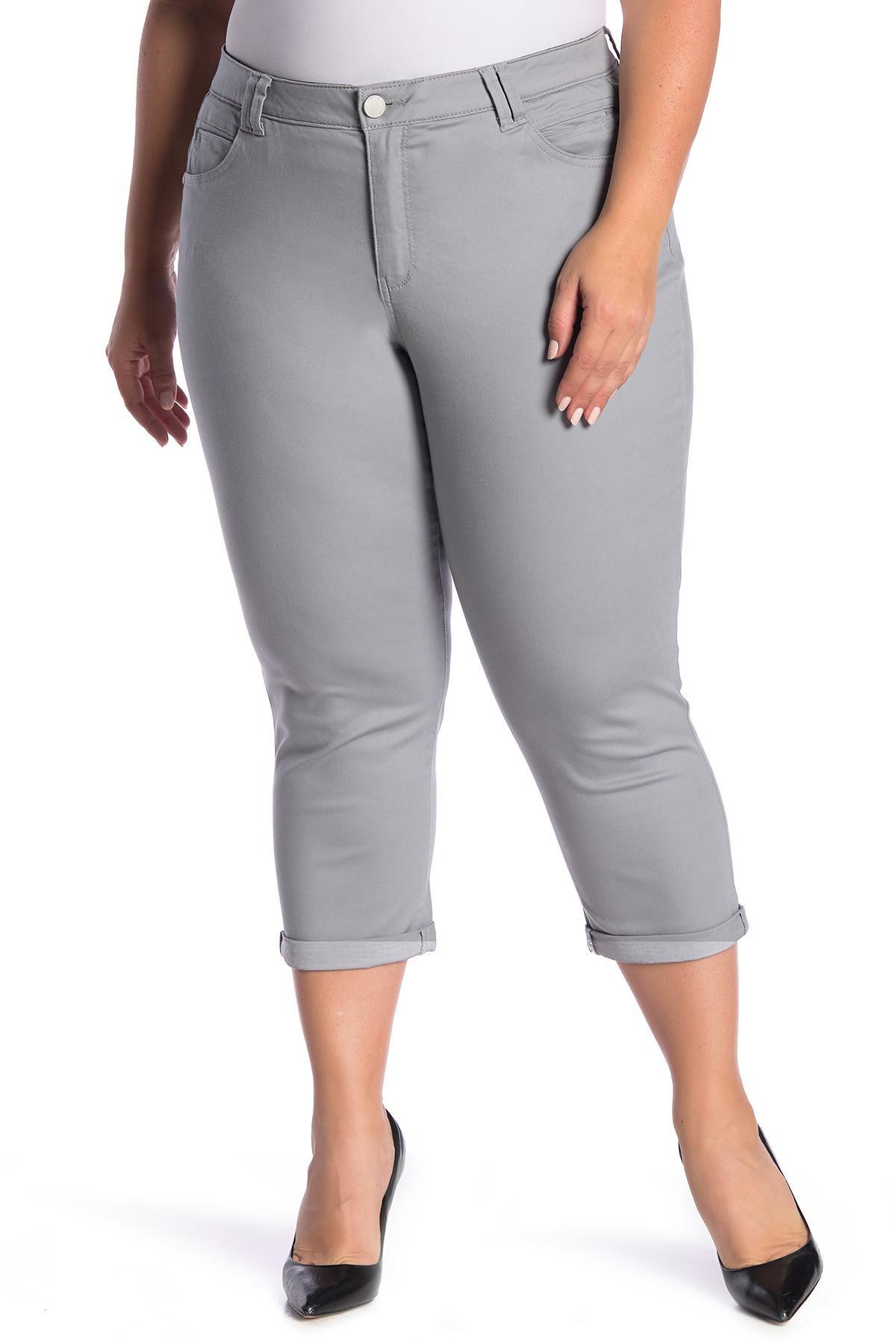 e0ca57e123e89 Lyst - Democracy High-rise Stretch Twill Rolled Jeans (plus Size) in ...
