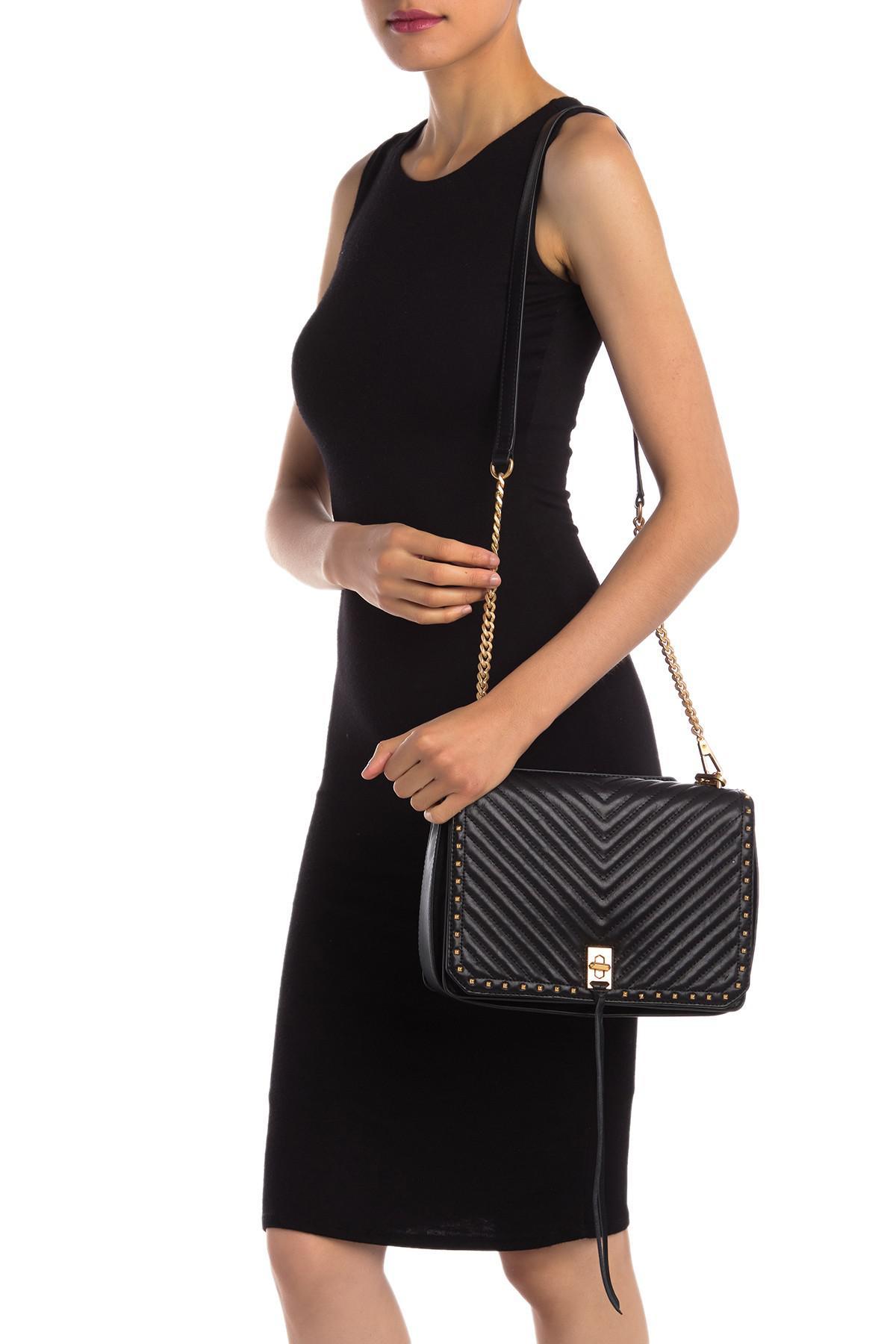 9906983e59 Lyst - Rebecca Minkoff Medium Becky Leather Shoulder Bag in Black