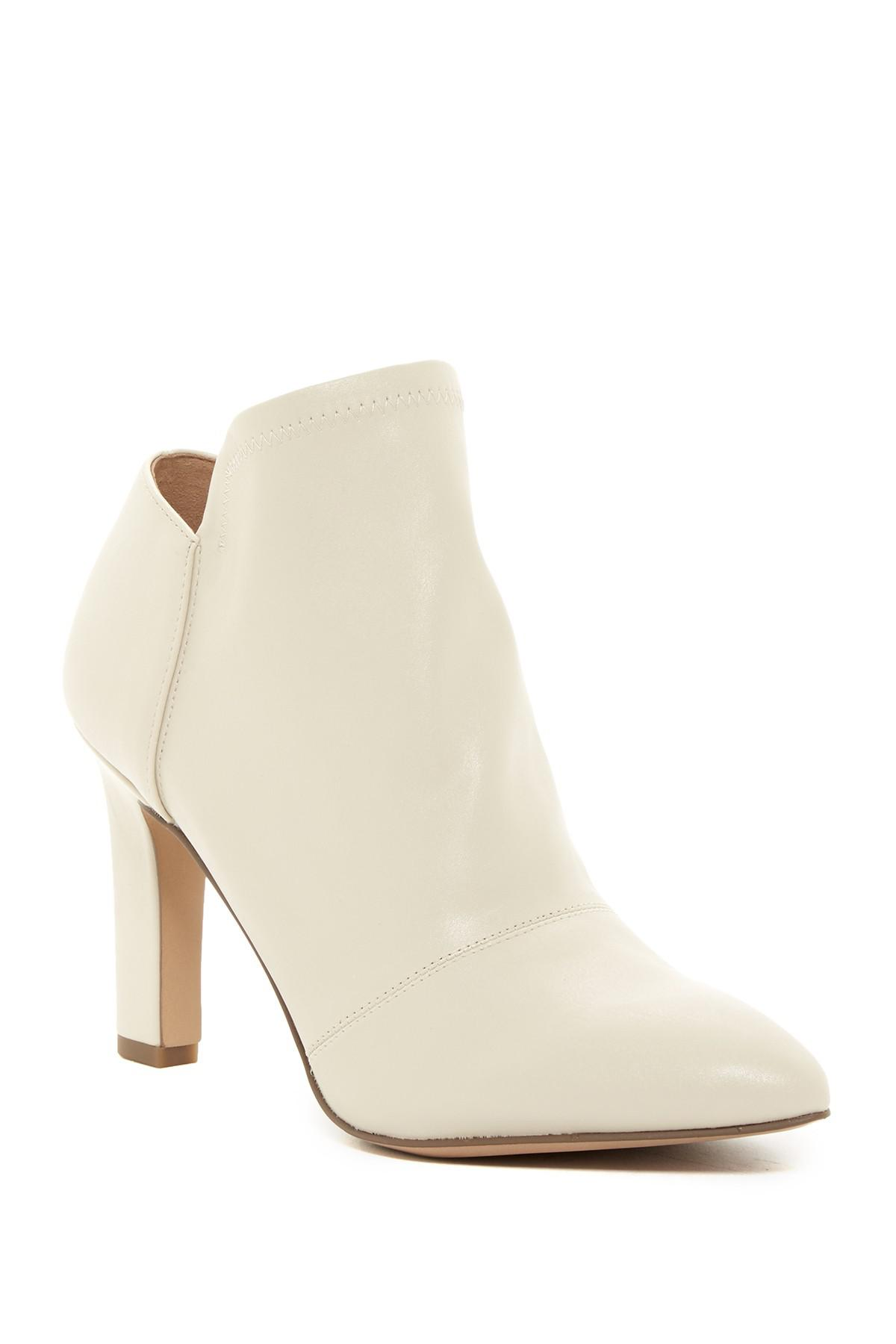 a960818b5 Franco Sarto Kairi Asymmetrical Shaft Bootie in White - Lyst