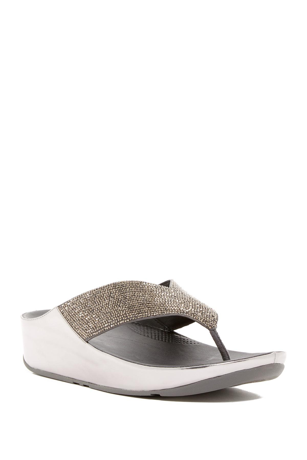 Fitflop Crystal Wedge Thong Sandal xrwoF