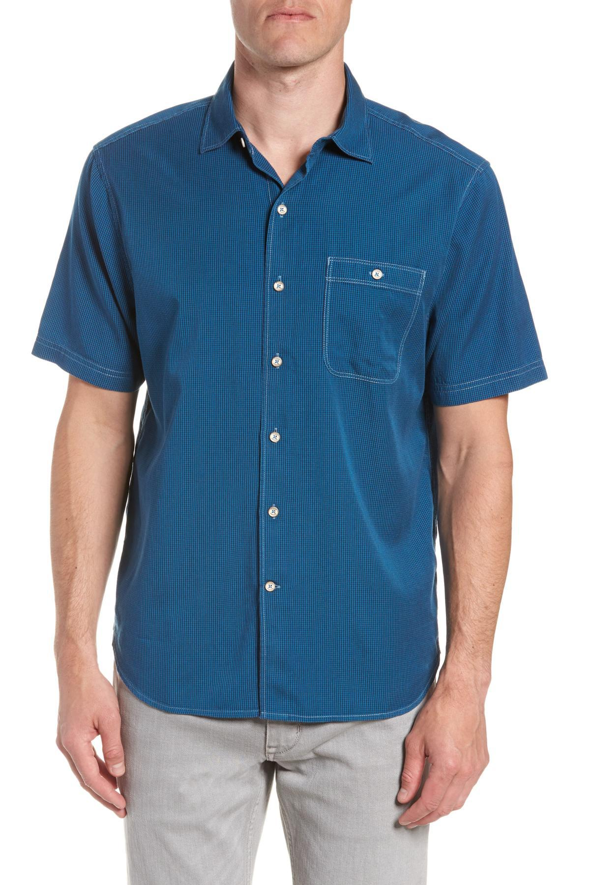 9d3ec4ee Lyst - Tommy Bahama Twilly Check Sport Shirt in Blue for Men