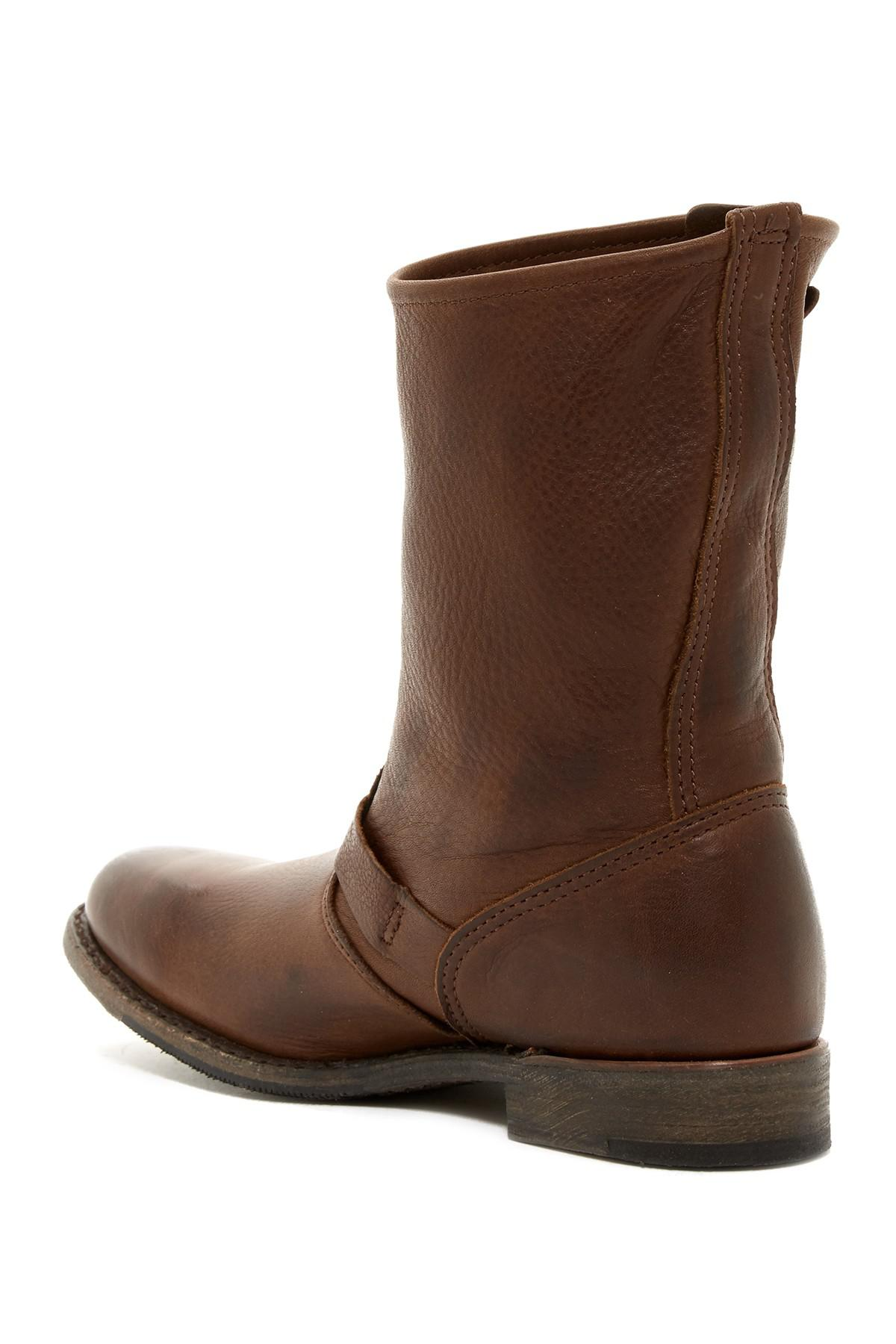 Walk over Veronica Leather Moto Boot in Brown for Men