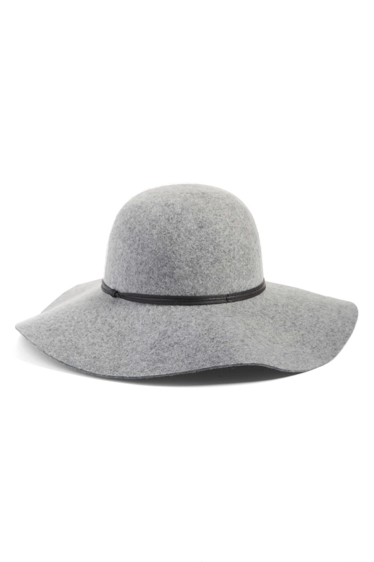c5782fb060eaa Lyst - Hinge Floppy Wool Hat in Gray