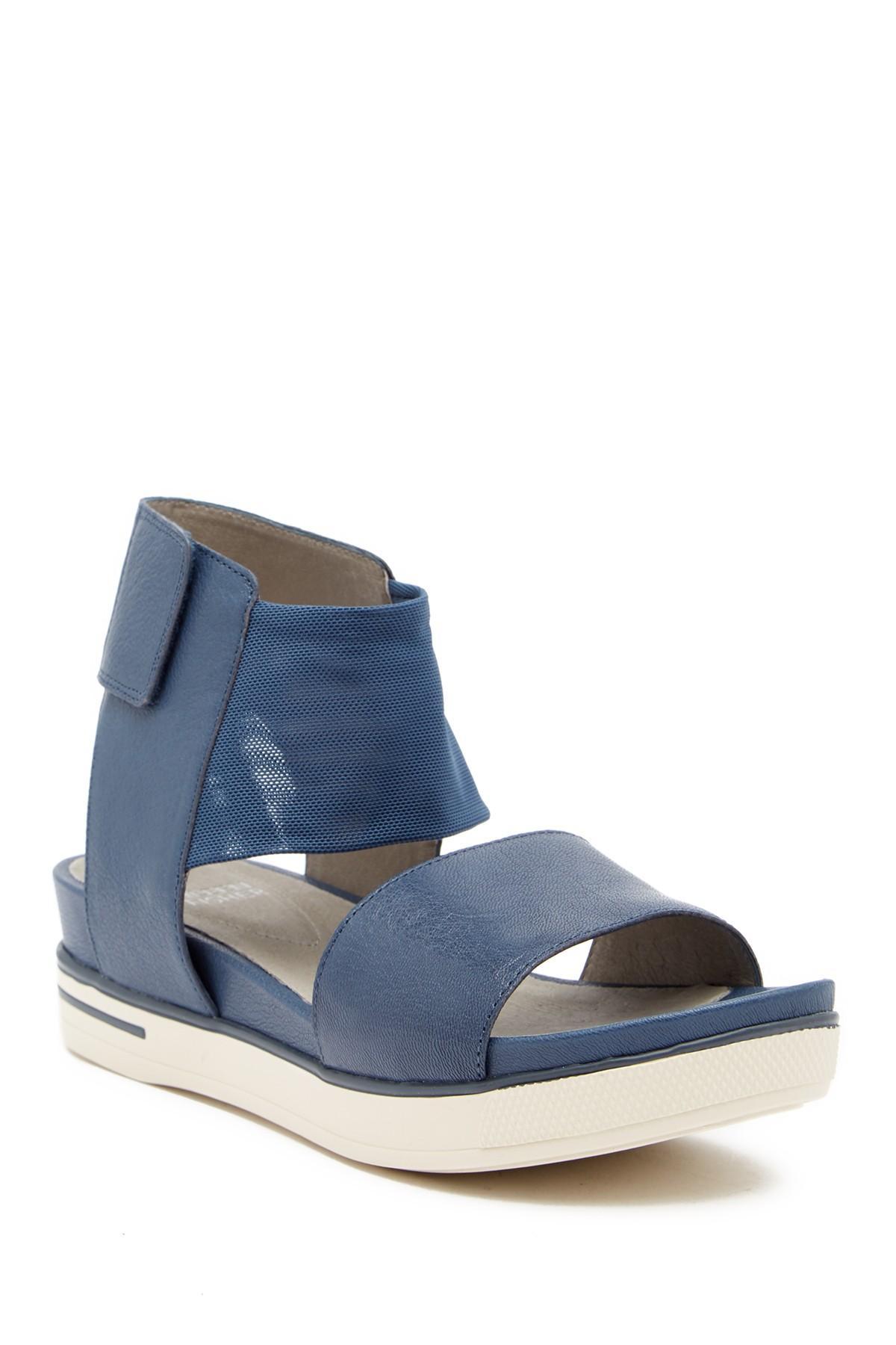 81f46d361f60 Lyst - Eileen Fisher Spree Platform Sport Wedge Sandal in Blue