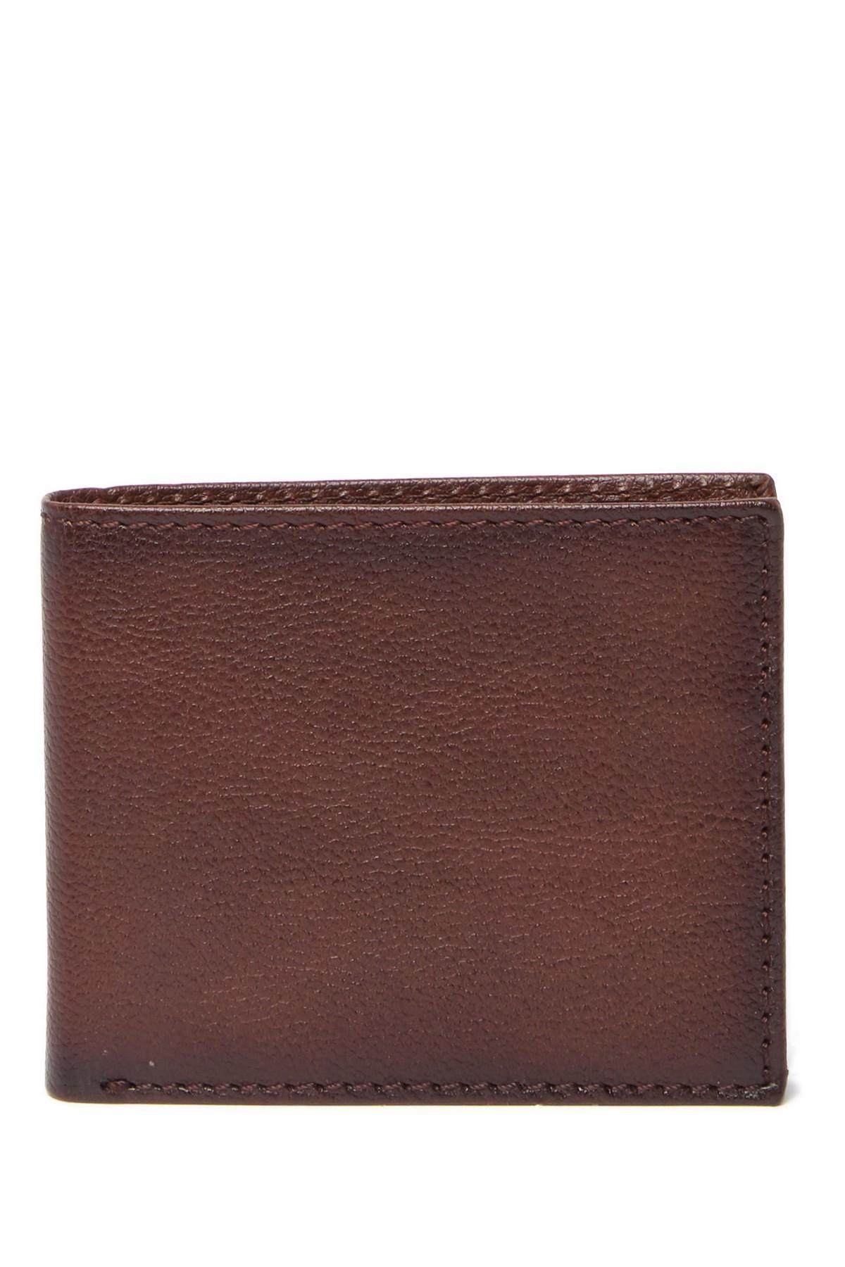 b505493da Lyst - Boconi Stills Leather Billfold Wallet in Brown for Men
