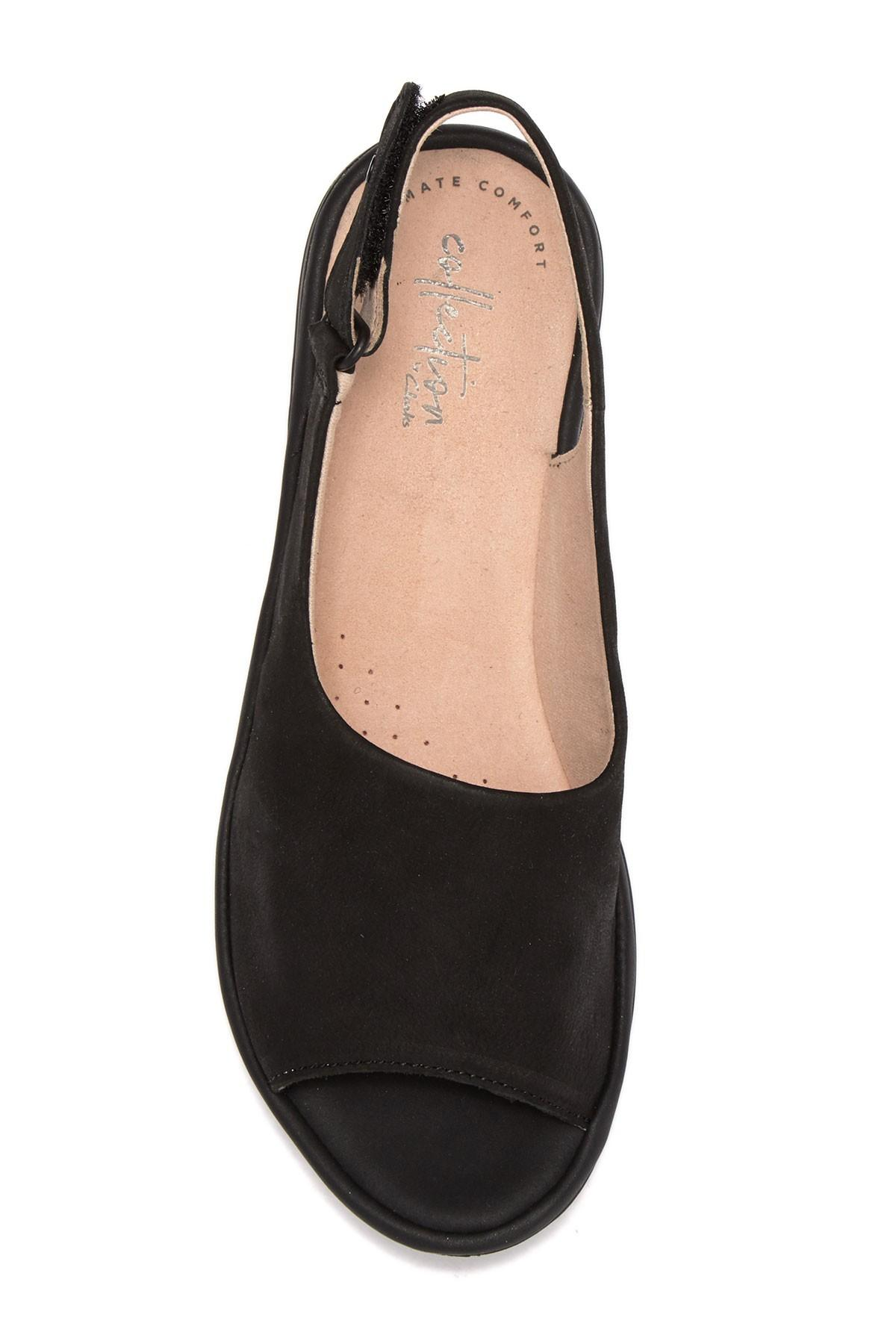 e30d34a1f519 Lyst - Clarks Reedly Shania Wedge Sandals in Black - Save 38%