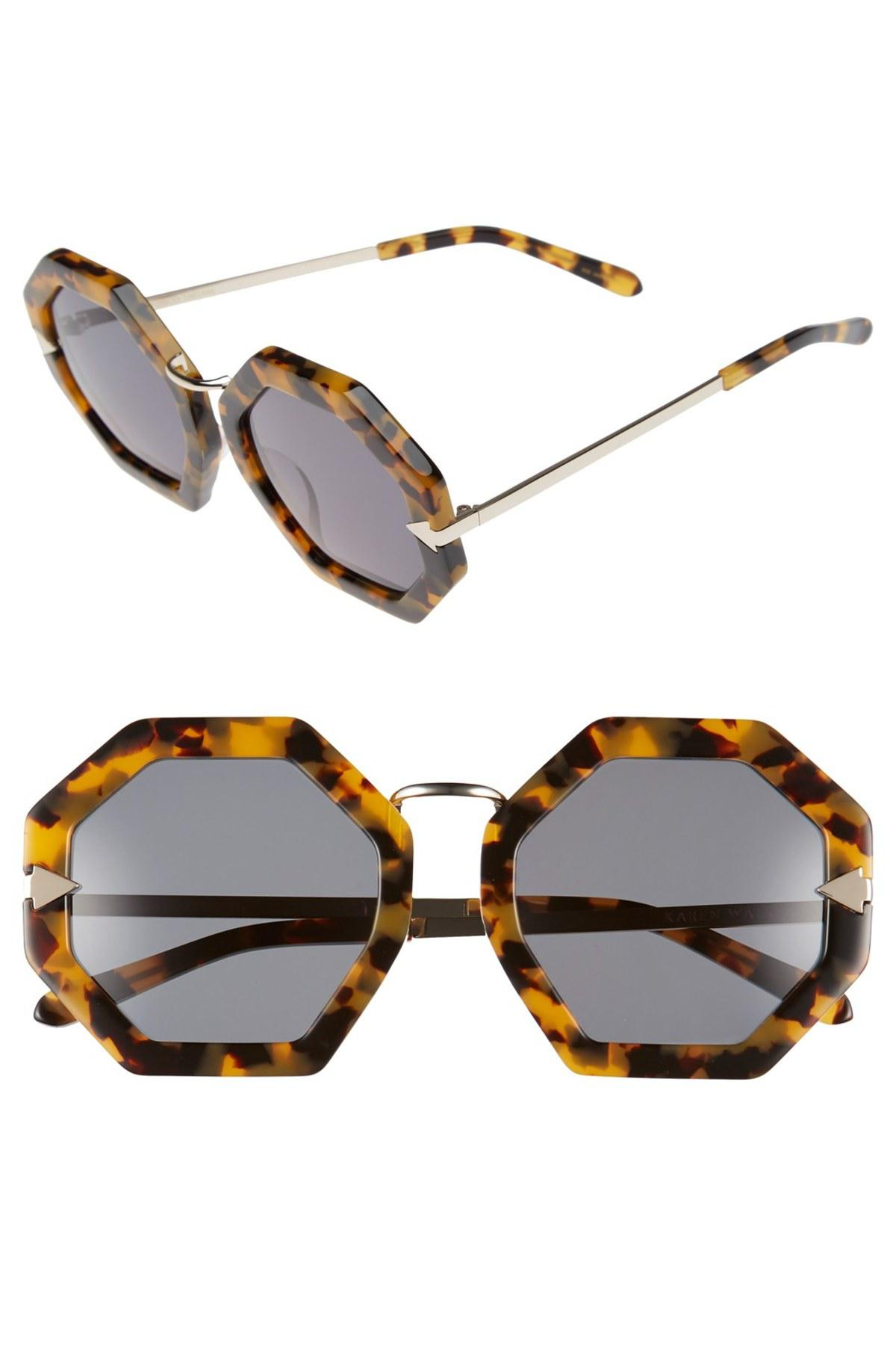 471d376a00b8 Lyst - Karen Walker  moon Disco  Octagonal 53mm Sunglasses - Crazy ...
