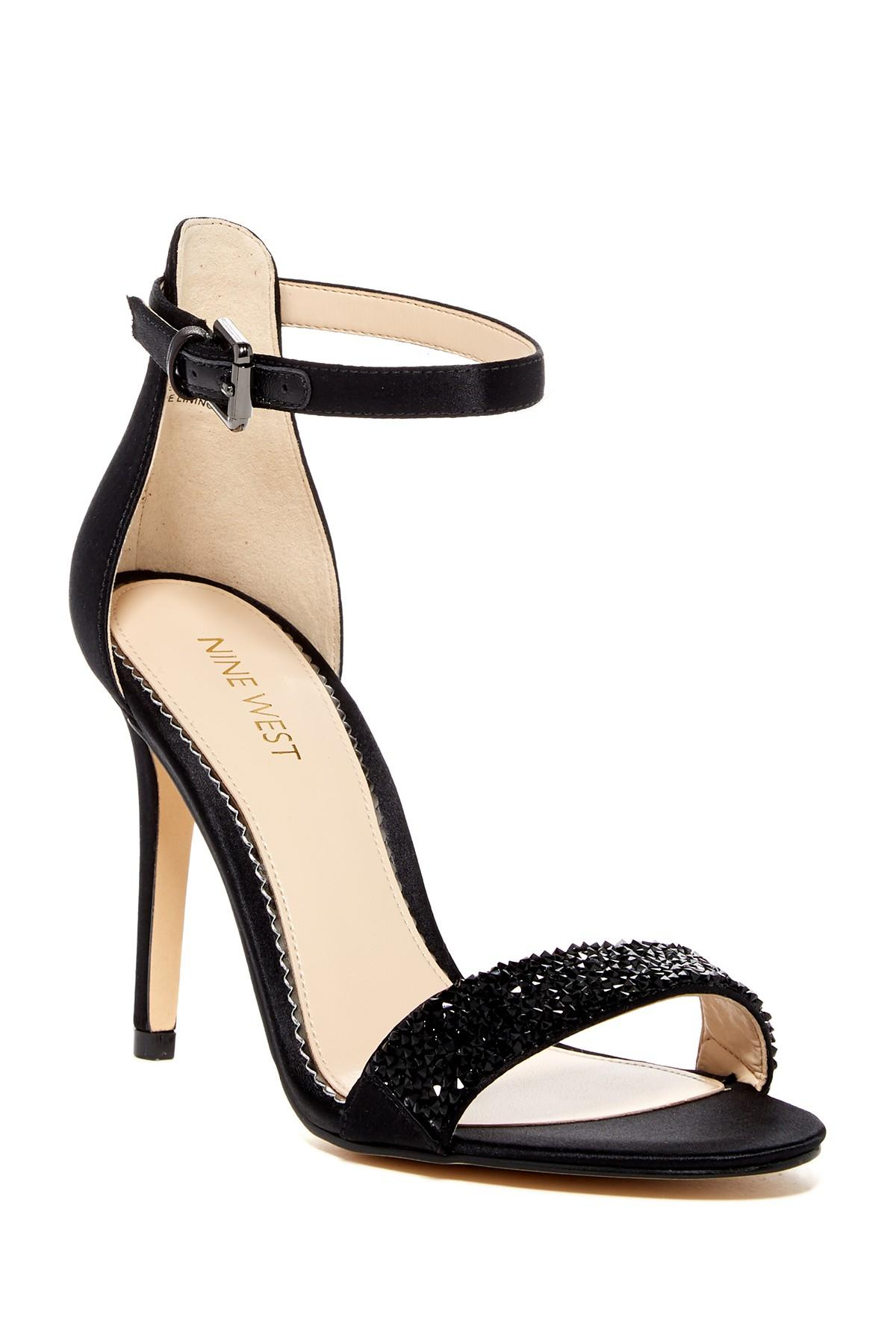 Lyst Nine West Mana Ankle Strap Stiletto Sandal In Black