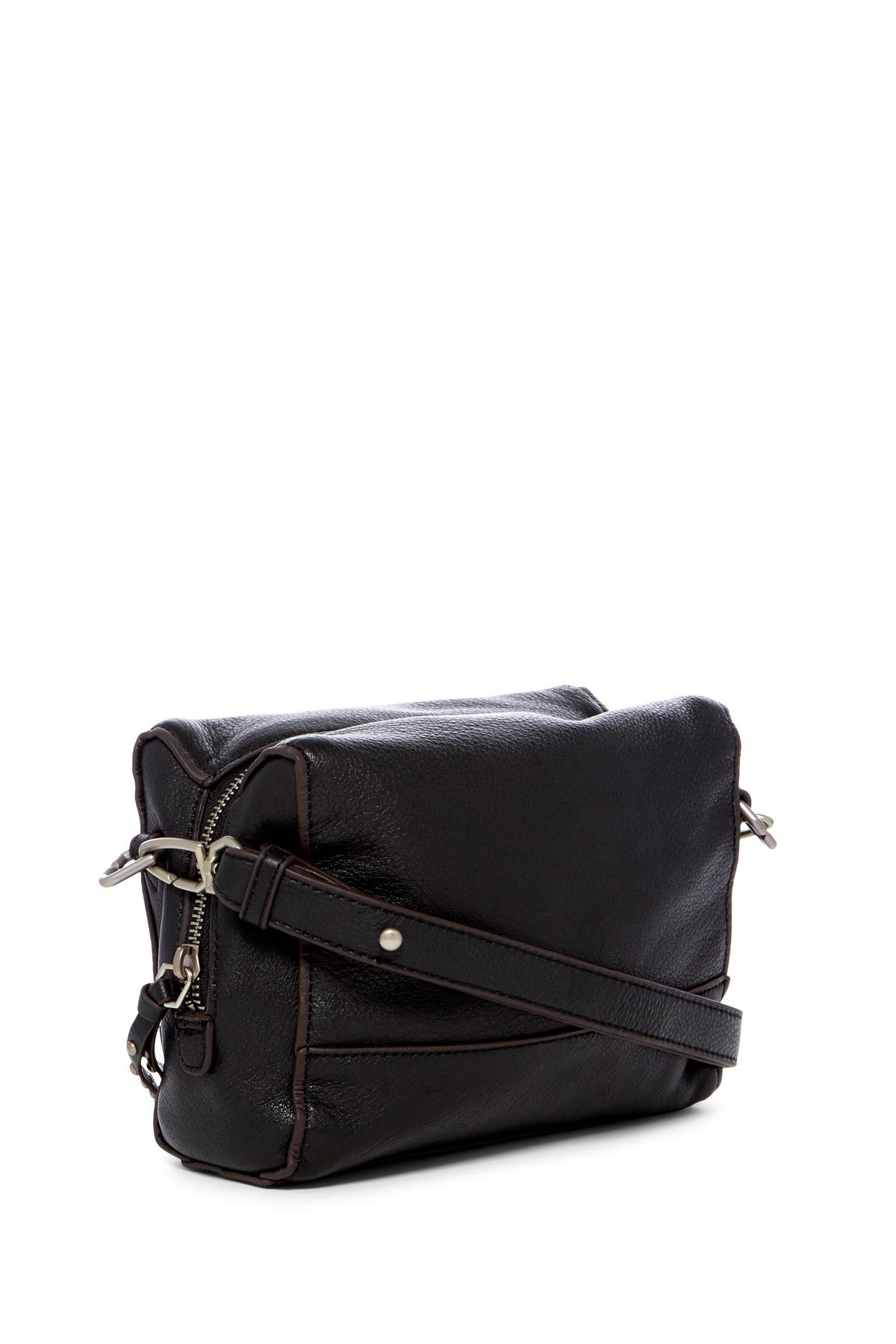 959029fad288 Lyst - Liebeskind Berlin Syracuse Milano Leather Crossbody Bag in Black