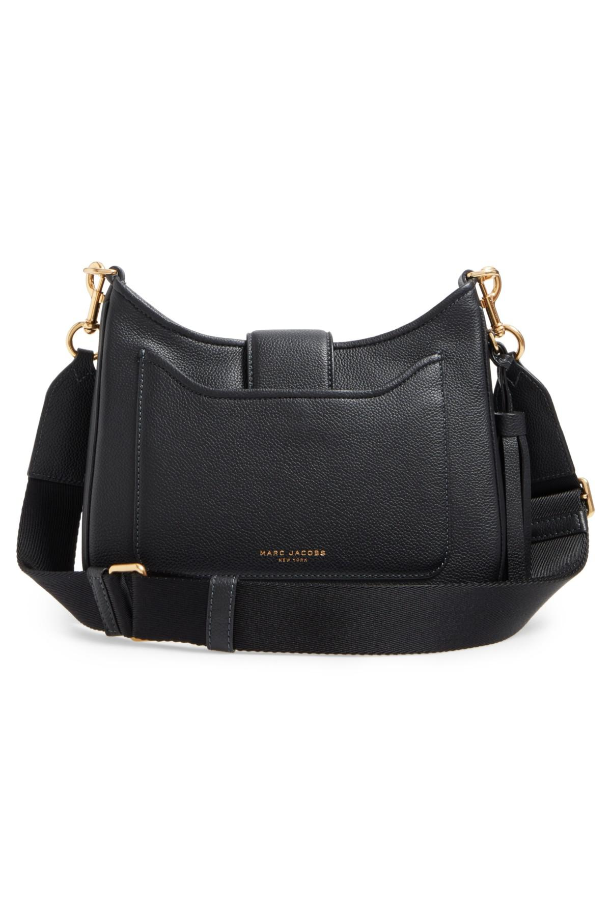 363adffd85ea Lyst - Marc Jacobs Interlock Small Leather Hobo Shoulder Bag in Black