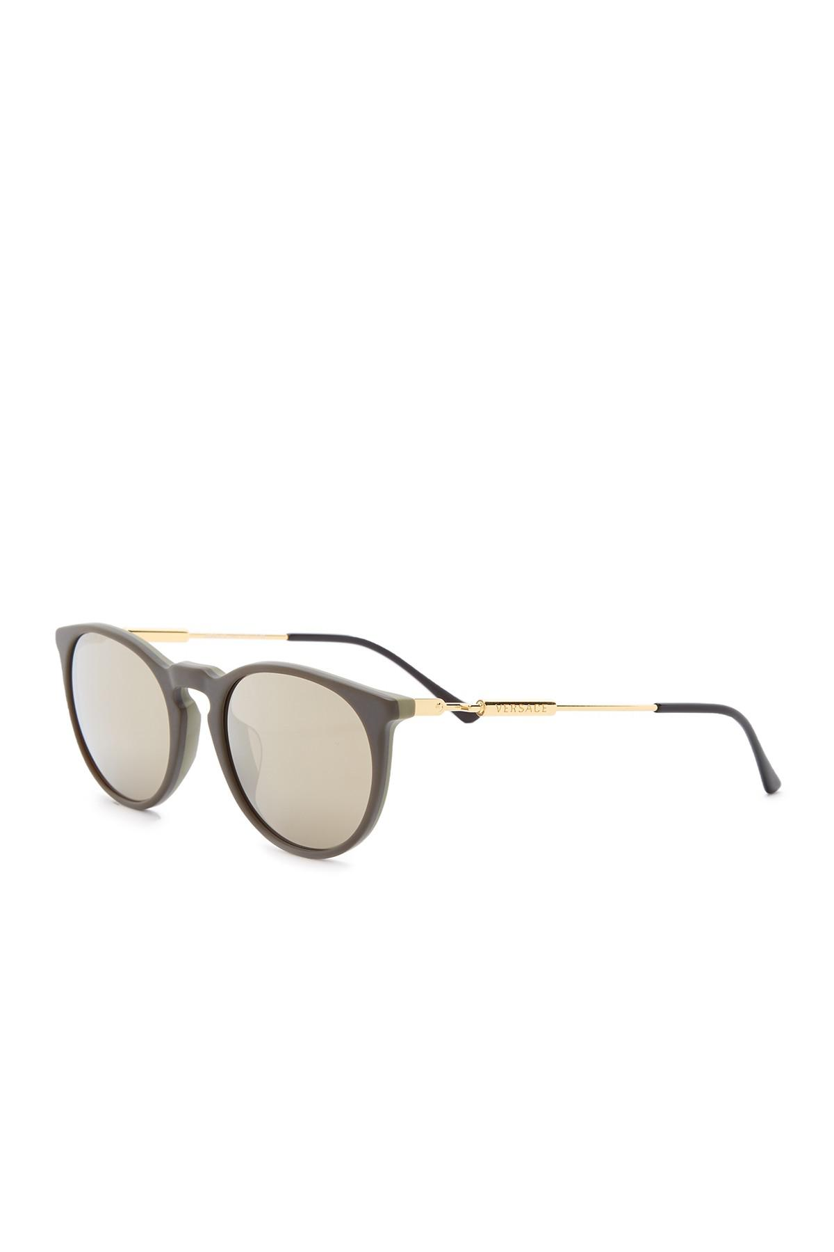 fabb082ab0b7 Lyst - Versace Pop Chic 52mm Round Sunglasses in Green