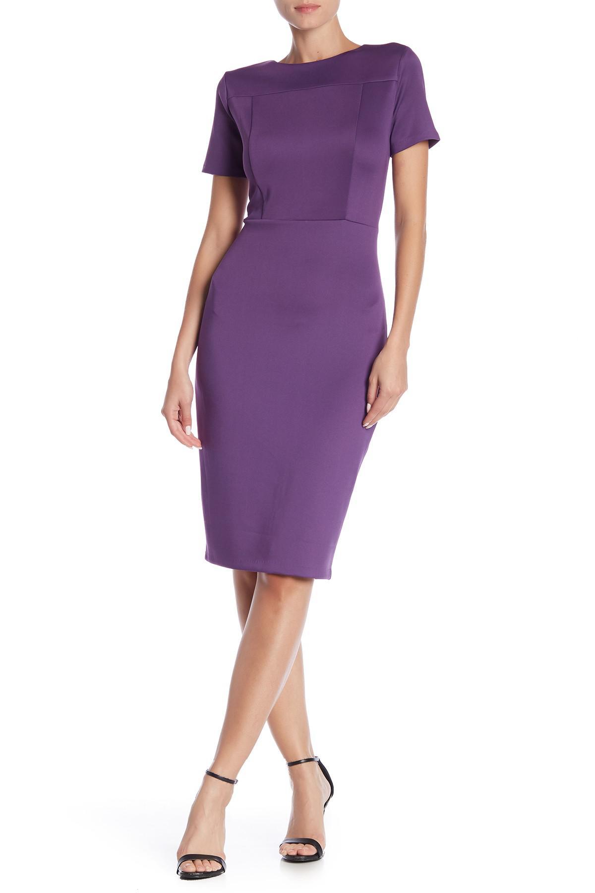 ac4e5989 Lyst - Alexia Admor Sheath Dress in Purple - Save 12.658227848101262%