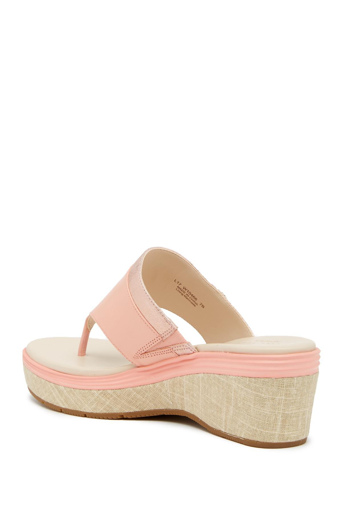 17ef15430f3 Cole Haan - Pink Cecily Grand Thong Sandal - Lyst. View fullscreen
