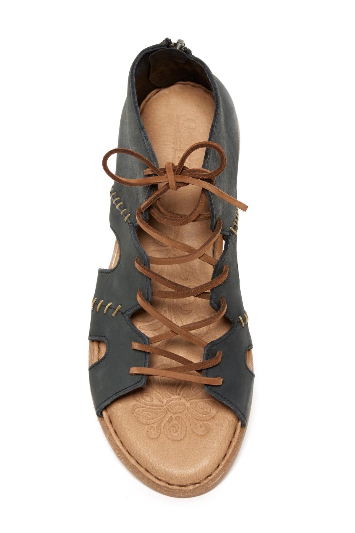 f3fa8faca81 Lyst - Born Nea Nubuck Gladiator Sandal in Black