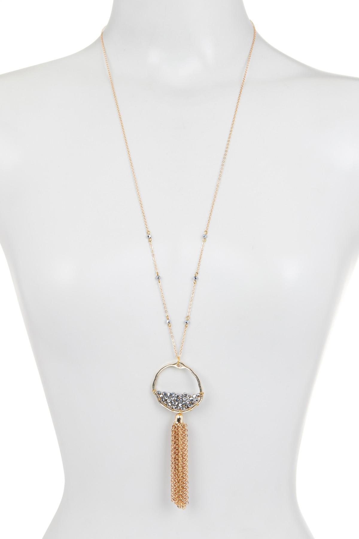 Panacea Three-Row Multicolor Crystal Necklace OTUIPGa