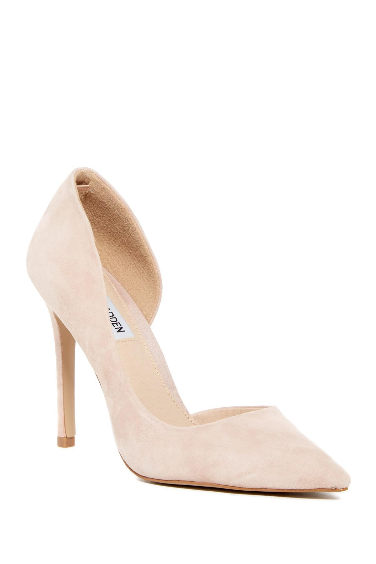 c0d027b938e Lyst - Steve Madden Felicity Suede D orsay Pump in Natural