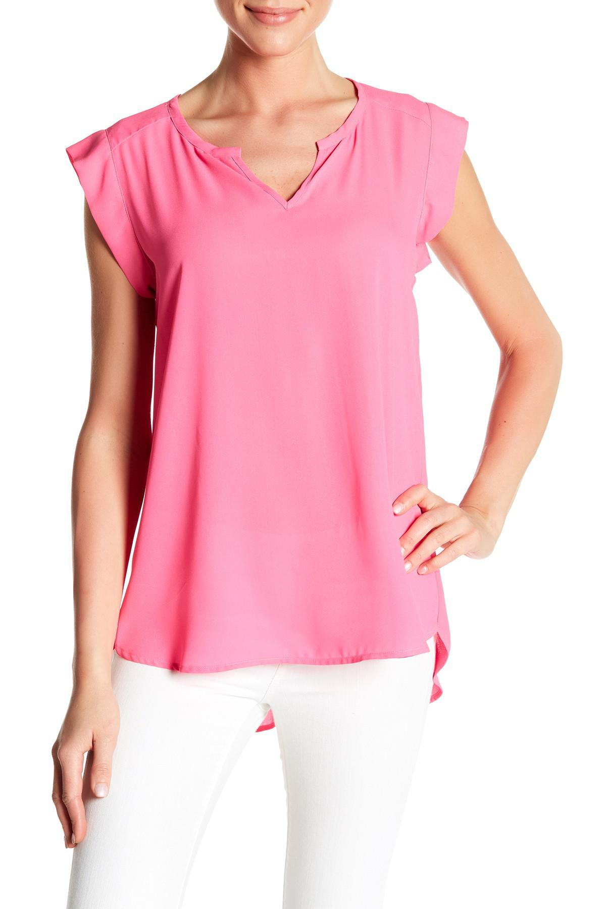 203a0a3f4c706c Lyst - Pleione Chloe Pleat Back Blouse in Pink