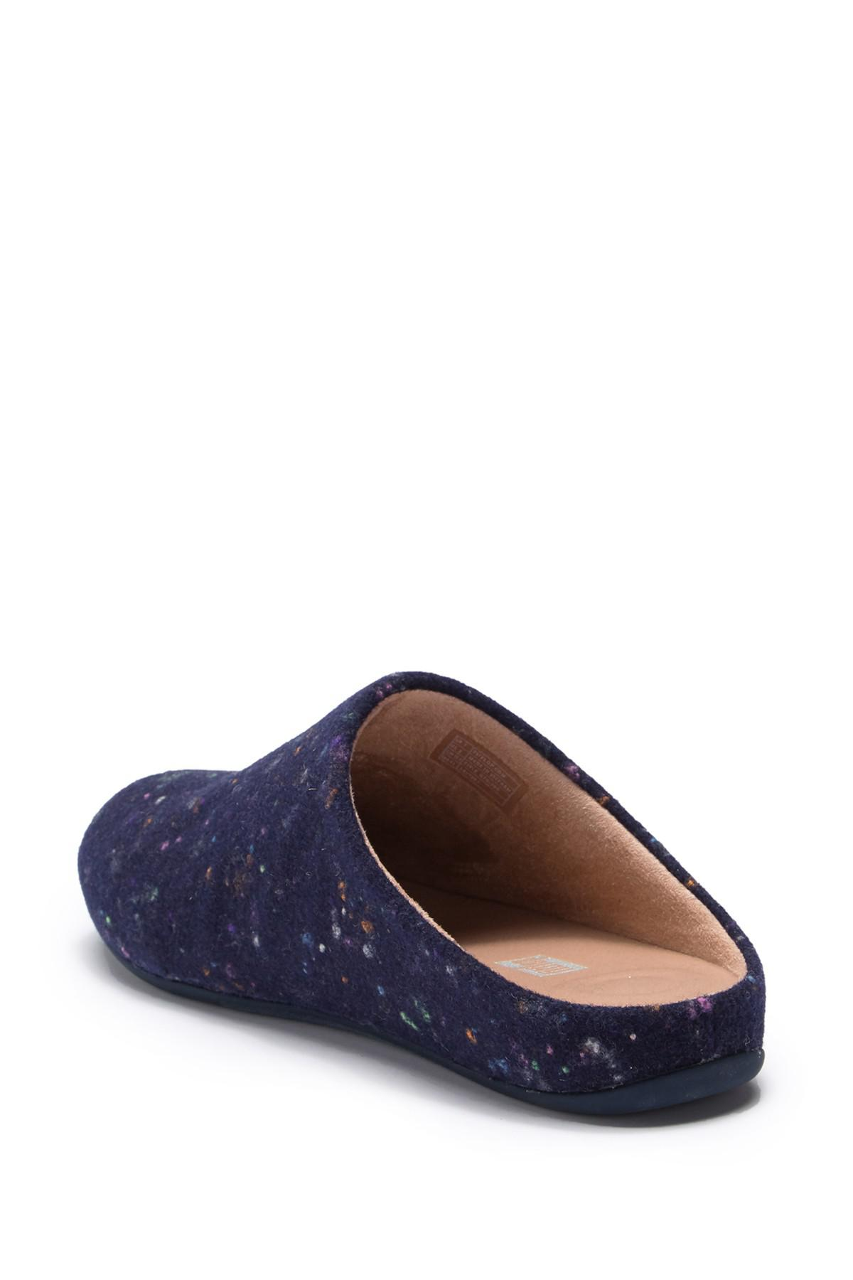 c575e6d0952d Lyst - Fitflop Chrissie Speckle Felt Slippers in Blue