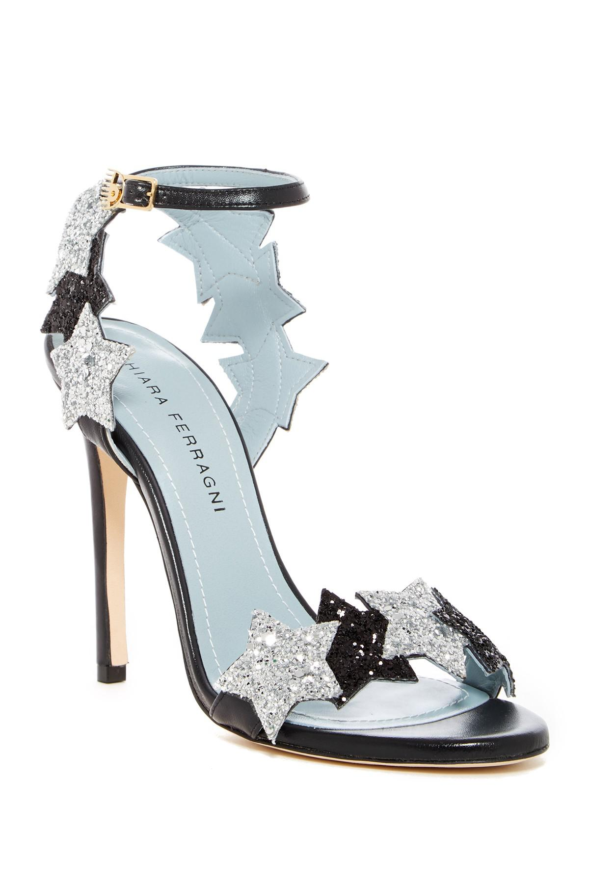 Chiara Ferragni Star Applique Stappy Stiletto Heel GFag12YO2k