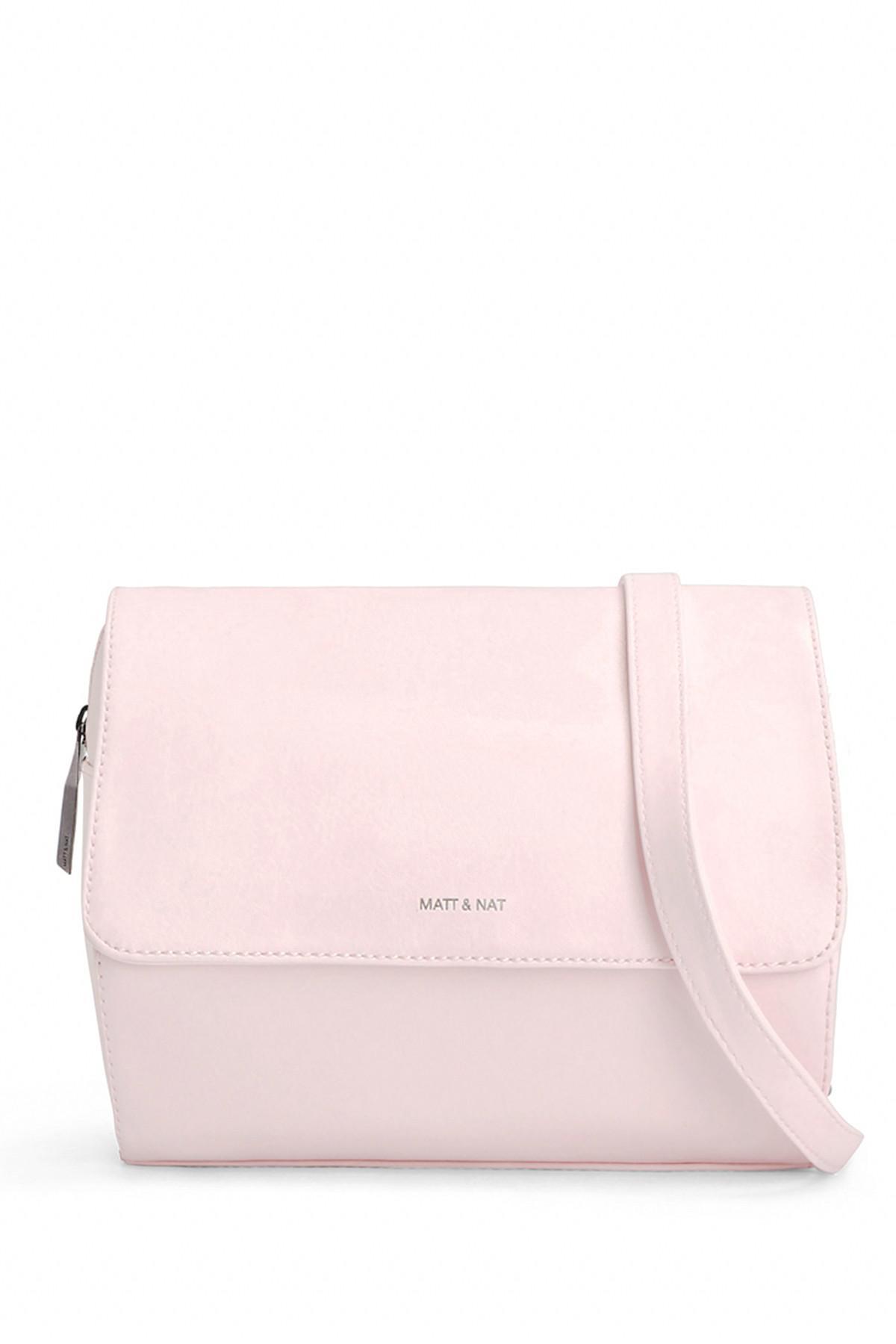 0d23c7127 Matt & Nat Phi Cycle Commuter Vegan Leather Crossbody Bag in Pink - Lyst