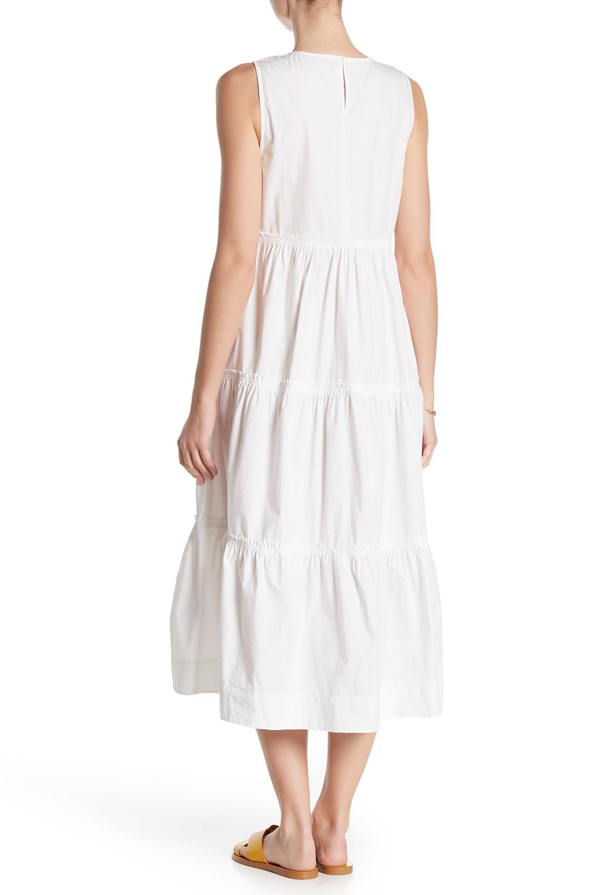 d936f6bd9b5 Madewell - White Cattail Tiered Dress - Lyst. View fullscreen
