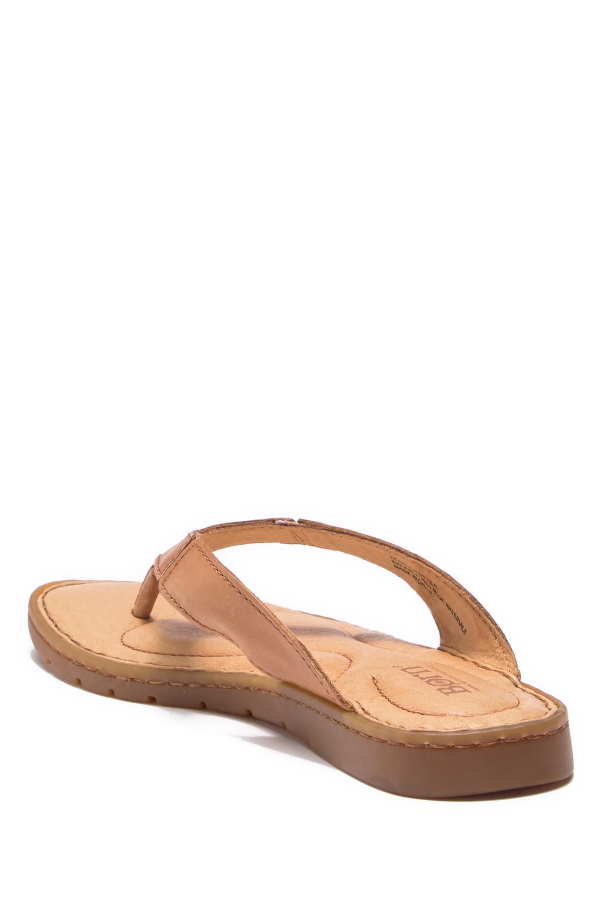 a10ad7d72a814 Born - Brown Amelie Leather Flip Flop Sandal - Lyst. View fullscreen