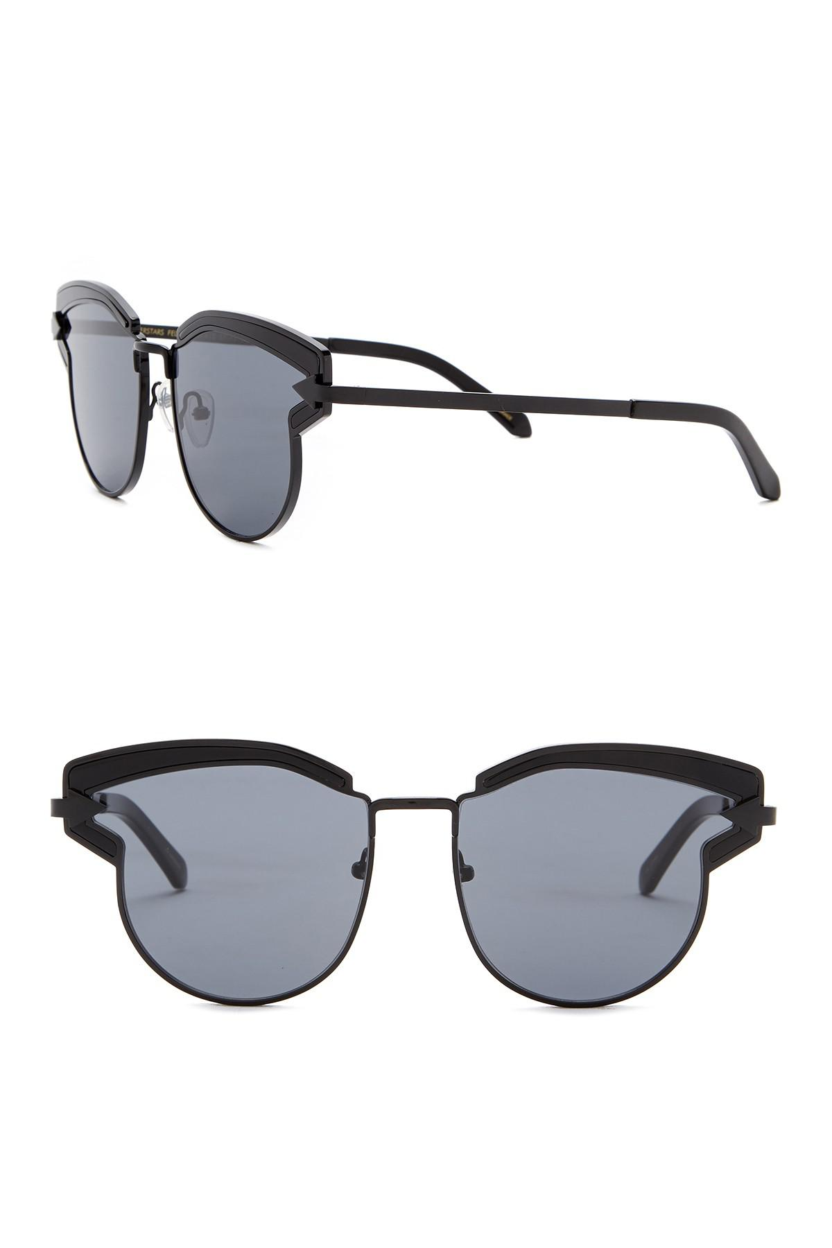 43f114362a1 Karen Walker 57mm Superstars Felipe Sunglasses in Black - Lyst