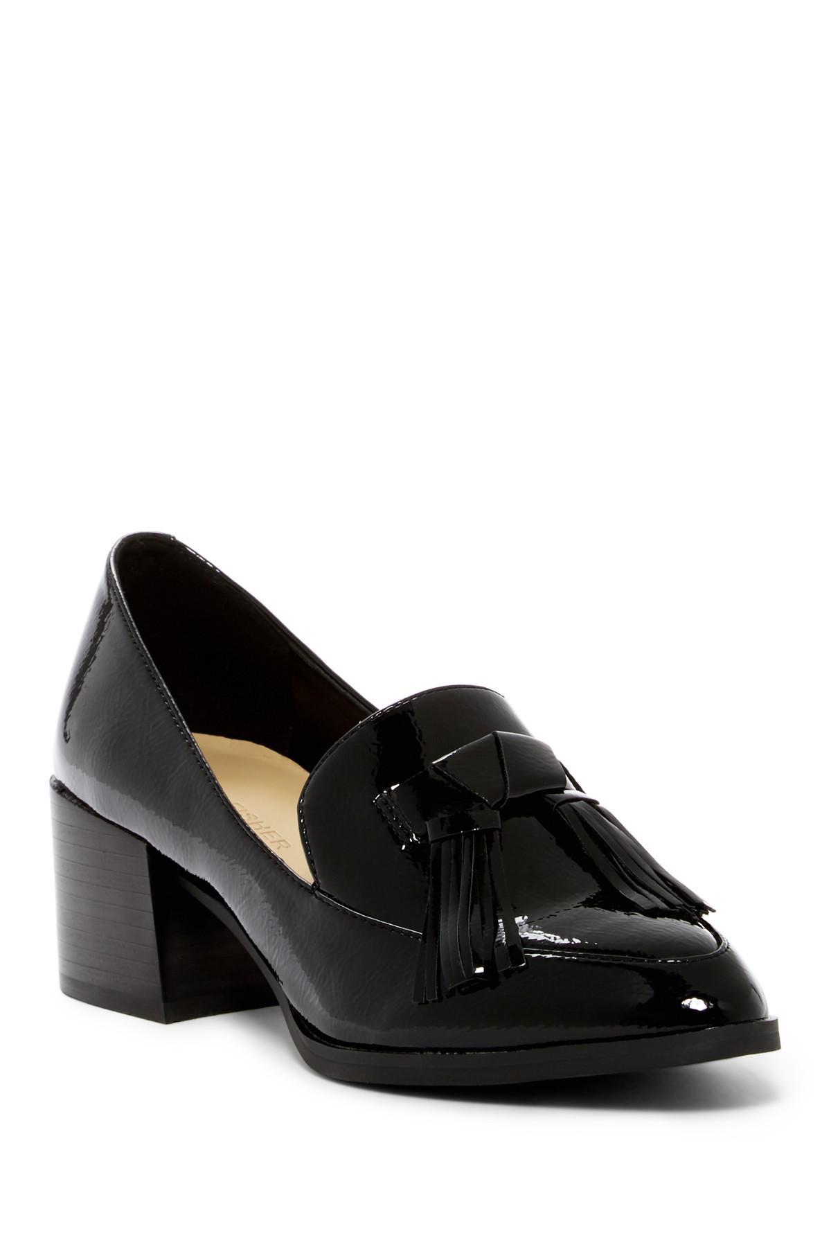 d1a44e8a77b Lyst - Marc Fisher Phylicia Block Heel Loafer in Black