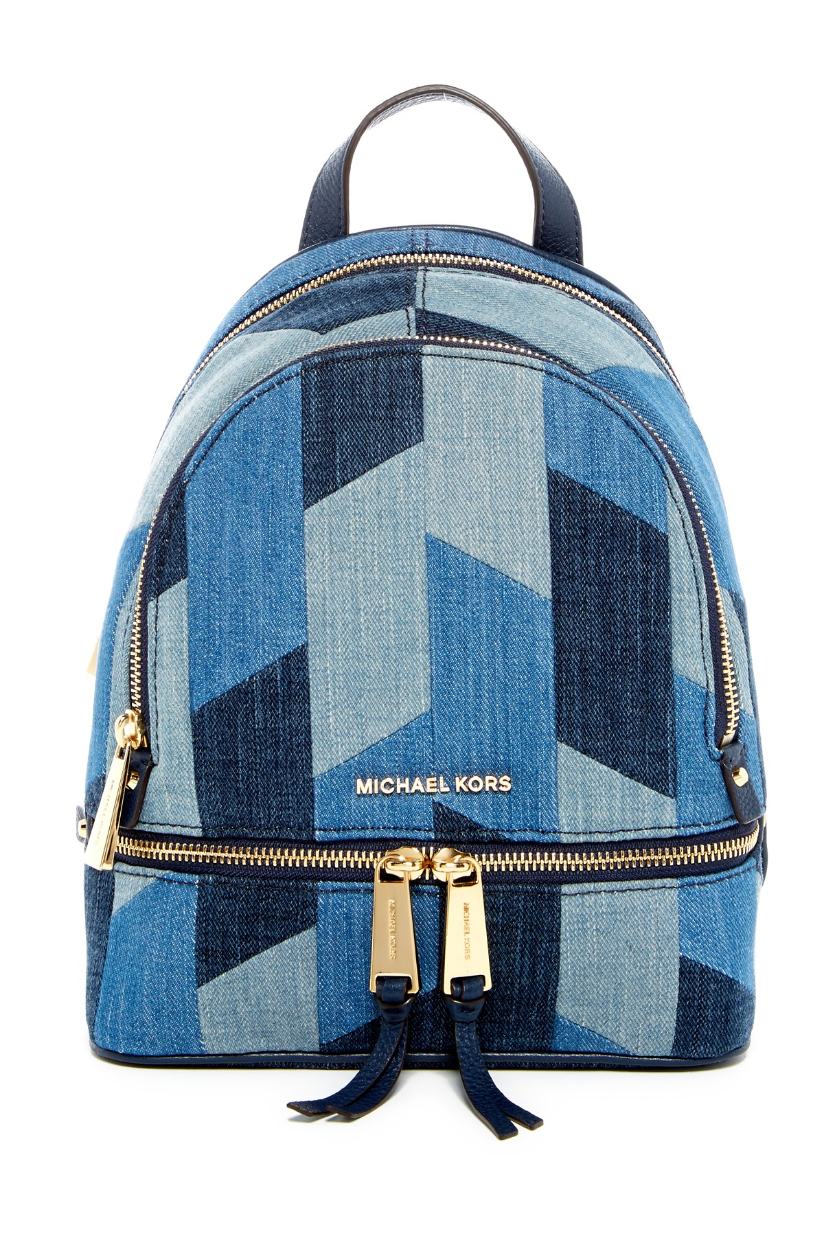 Michael Michael Kors Rhea Small Patchwork Denim Backpack