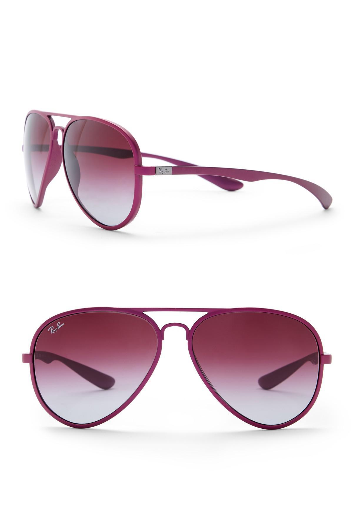 e70fd83961 Lyst - Ray-Ban Pilot Aviator 55mm Liteforce Sunglasses in Purple