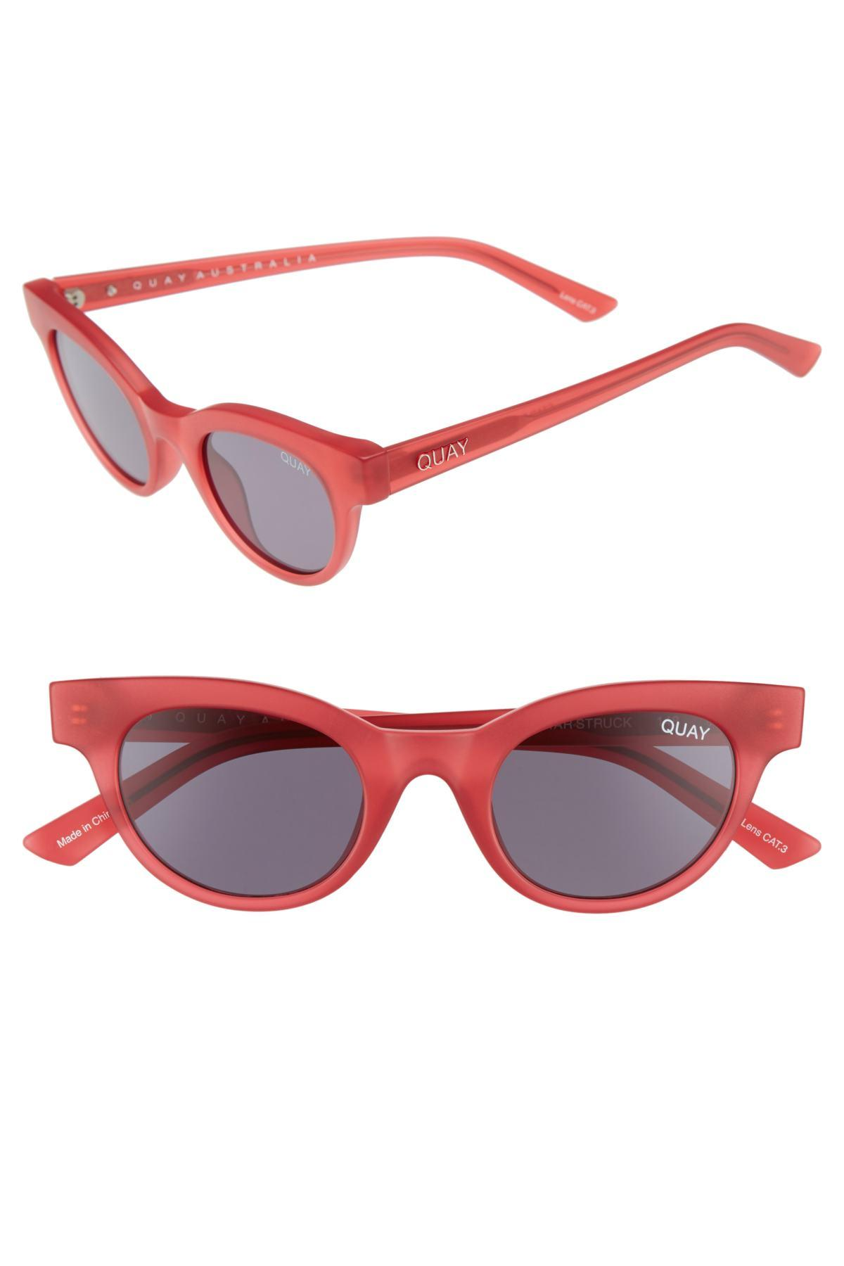 c772237a31a Lyst - Quay Starstruck 48mm Cat Eye Sunglasses in Pink