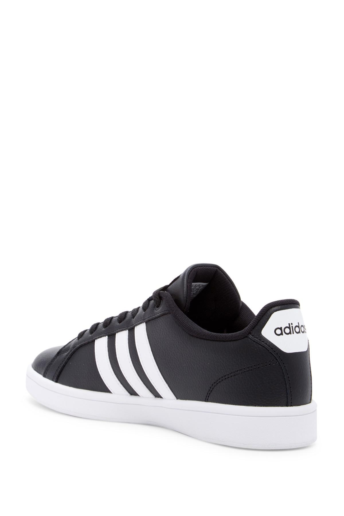 new concept 24fa6 3b170 Adidas - Black Cloudfoam Advantage Leather Sneaker for Men - Lyst. View  fullscreen