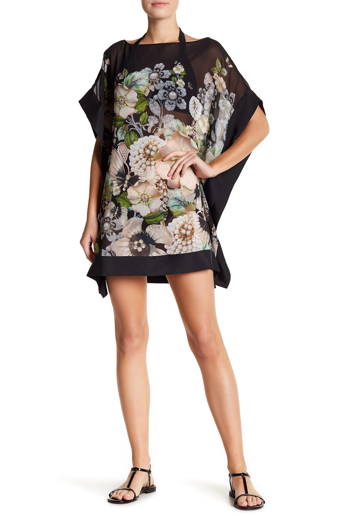 ce3978390ca0e5 Lyst - Ted Baker Gem Gardens Coverup in Black