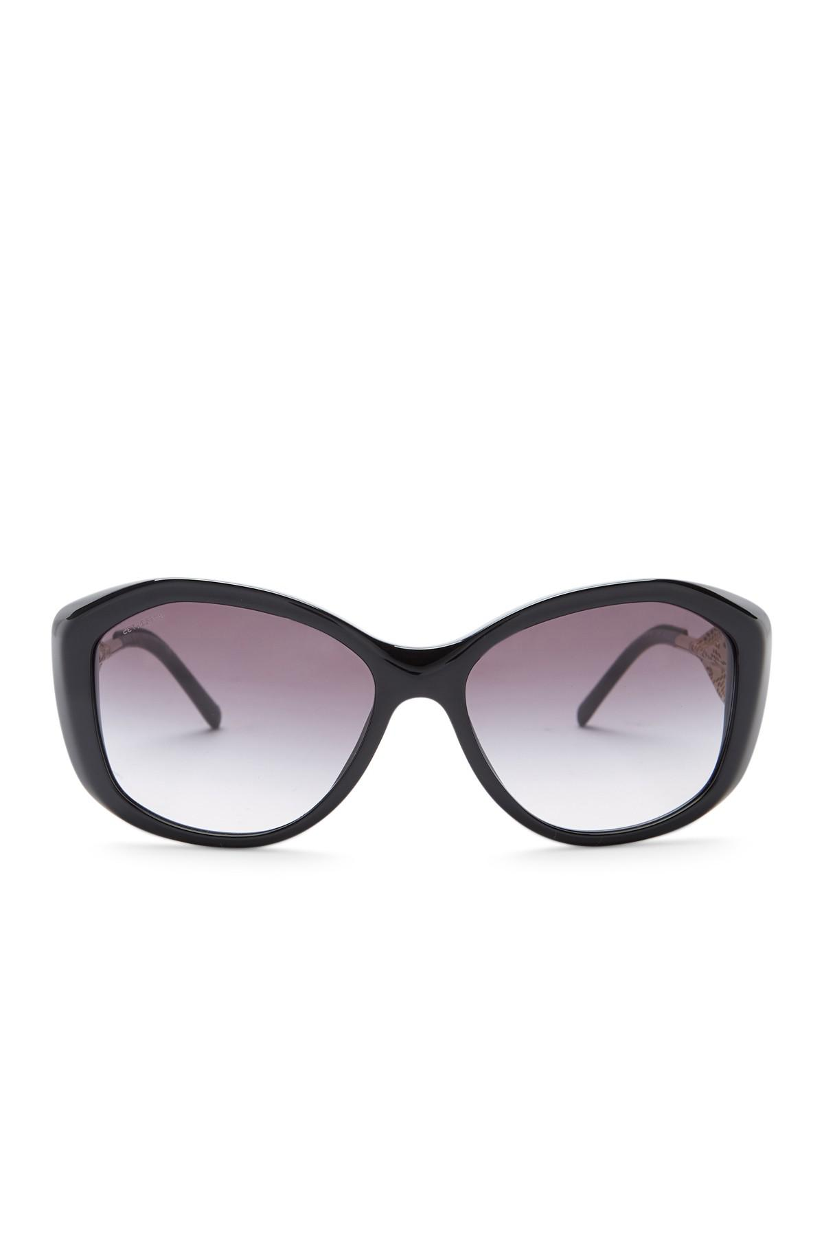 16252d23585 Lyst - Burberry Women s 57mm Oversized Sunglasses in Black
