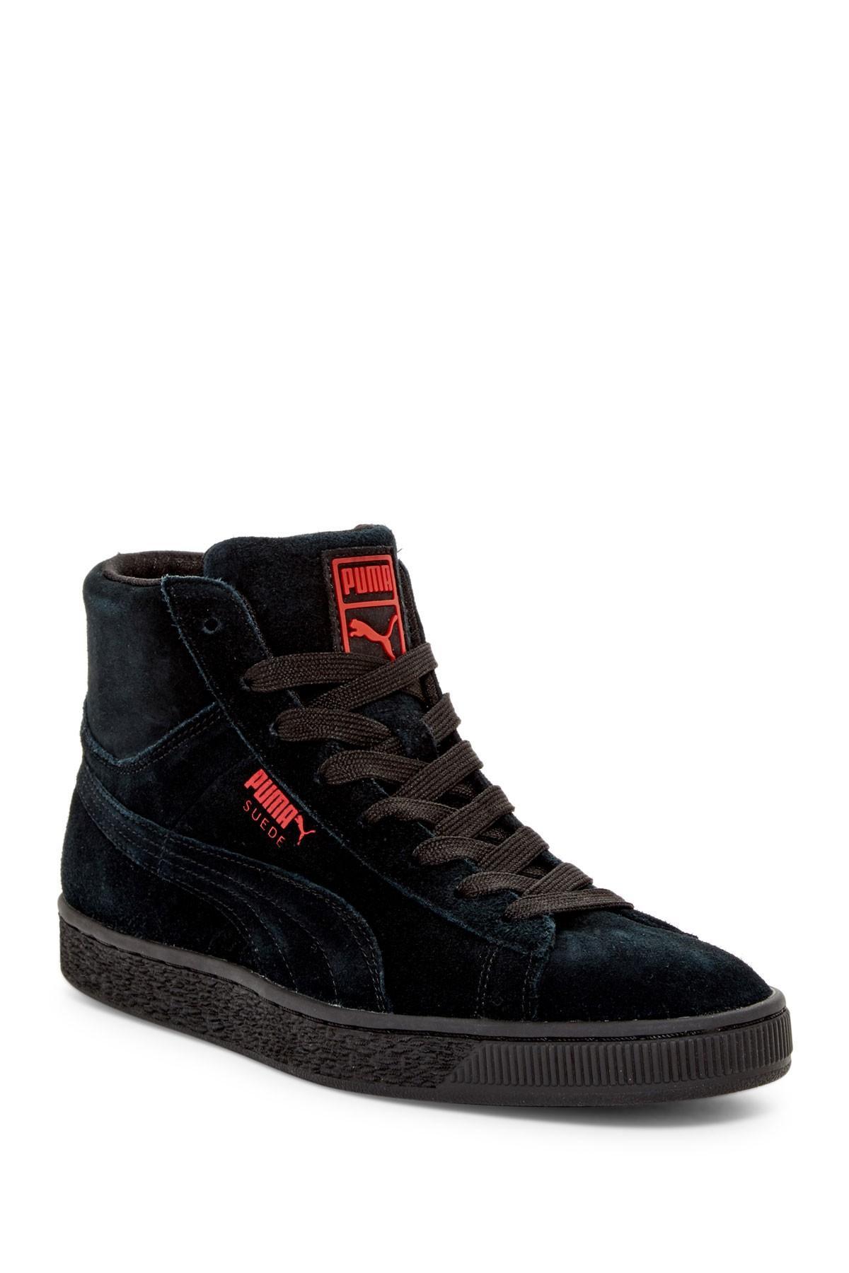 puma wog hightop sneaker in black for men lyst