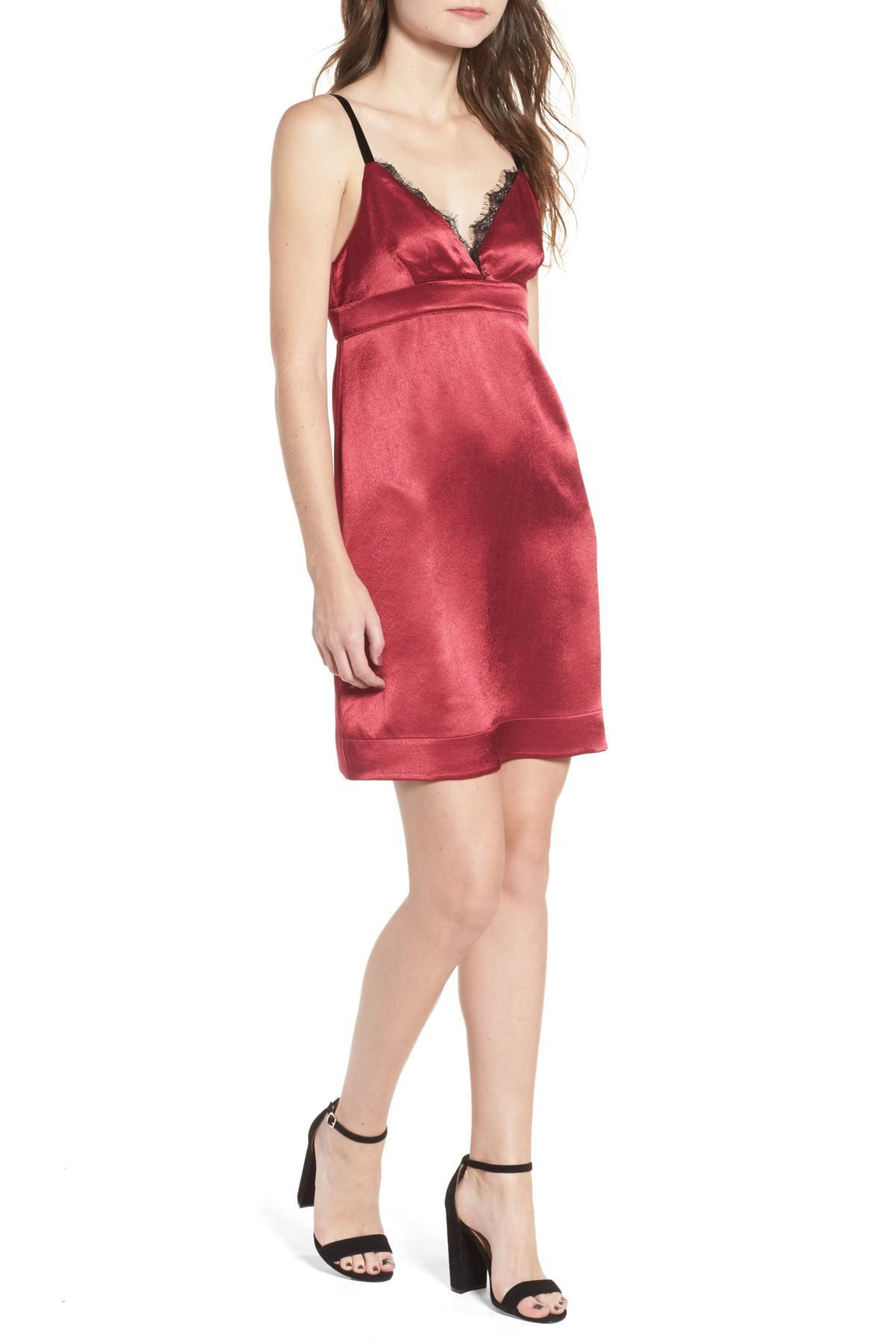Lyst - Ella Moss Mini Party Slipdres in Red 4f3aab5ba