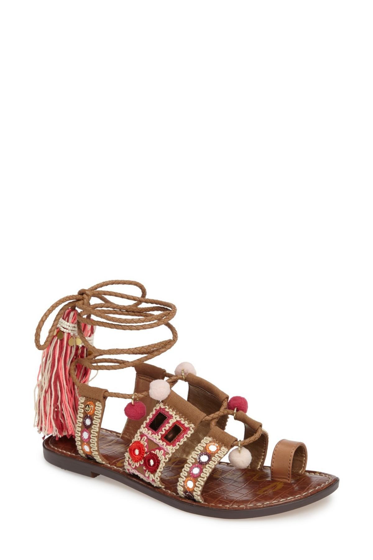 fc54b7572f5 Lyst - Sam Edelman Gretchen Leather-blend Sandals in Pink