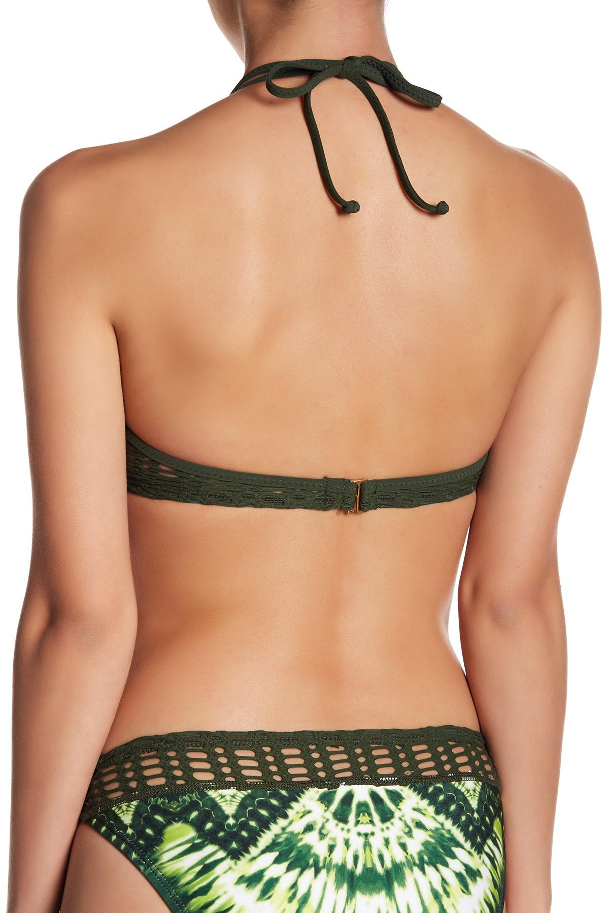 e6812b7703581 Lyst - Robin Piccone Marley Crochet Triangle Top in Green