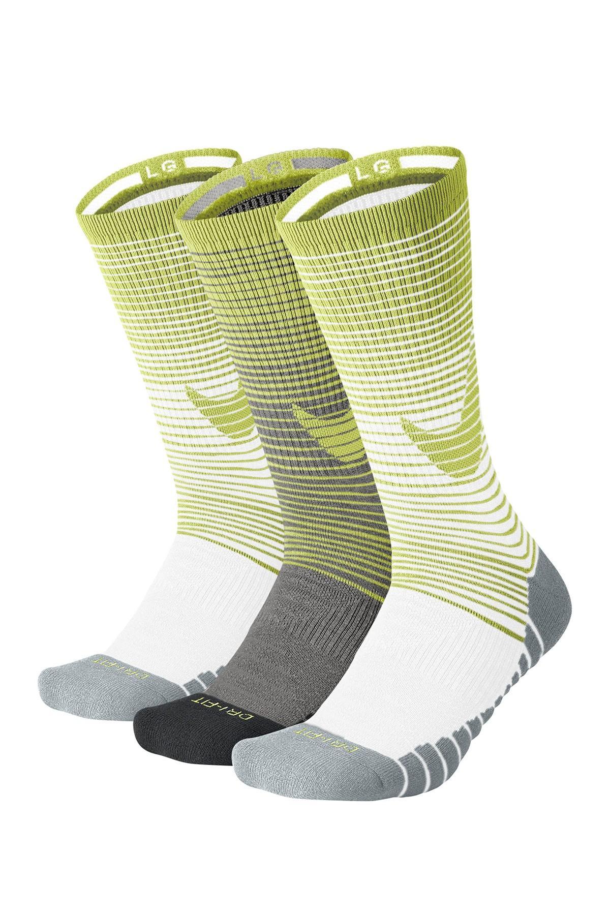 Lyst - Nike Dri-fit Performance Cushioned Crew Socks - Pack Of 3 in